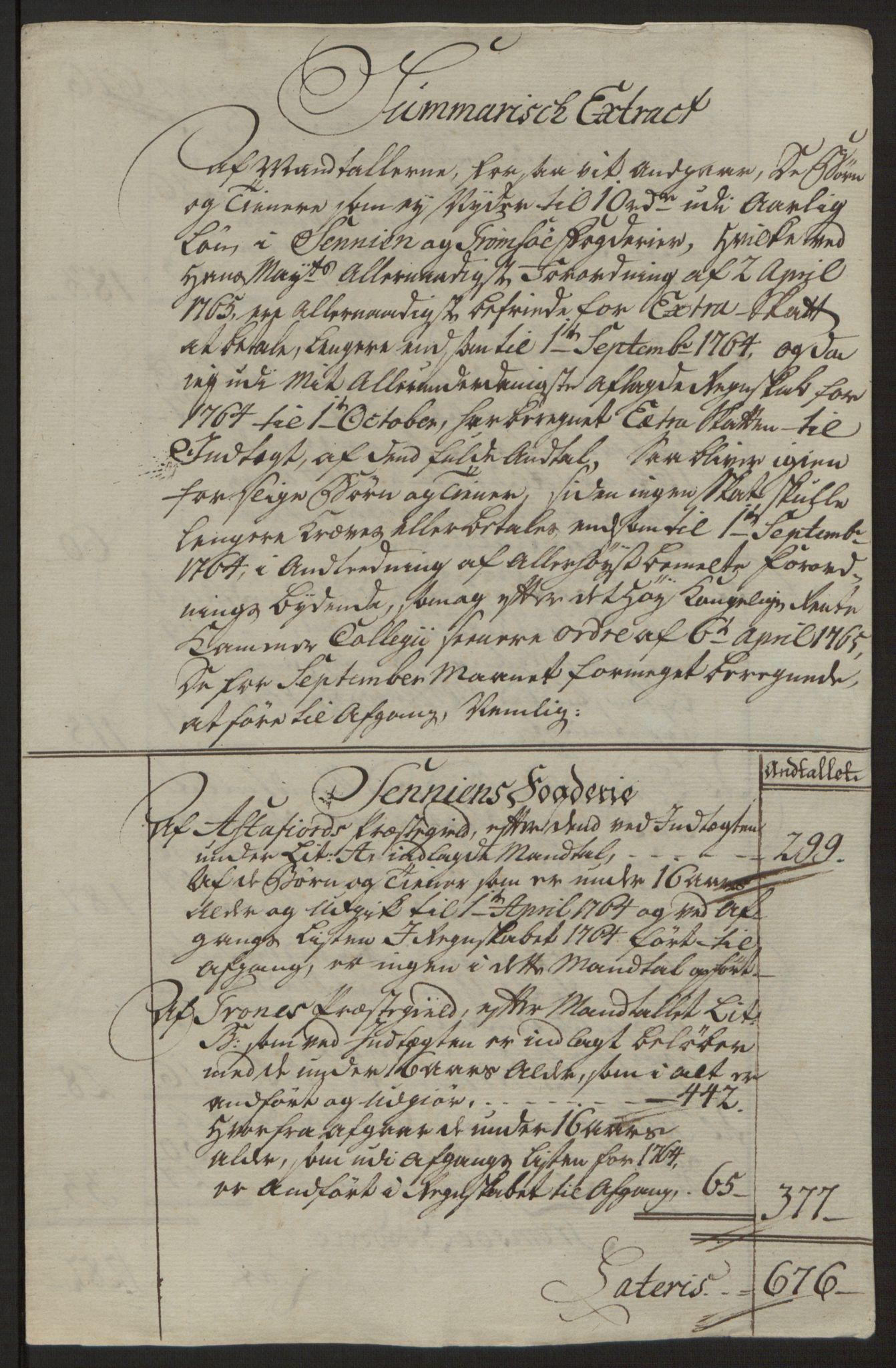 RA, Rentekammeret inntil 1814, Reviderte regnskaper, Fogderegnskap, R68/L4845: Ekstraskatten Senja og Troms, 1762-1765, s. 555