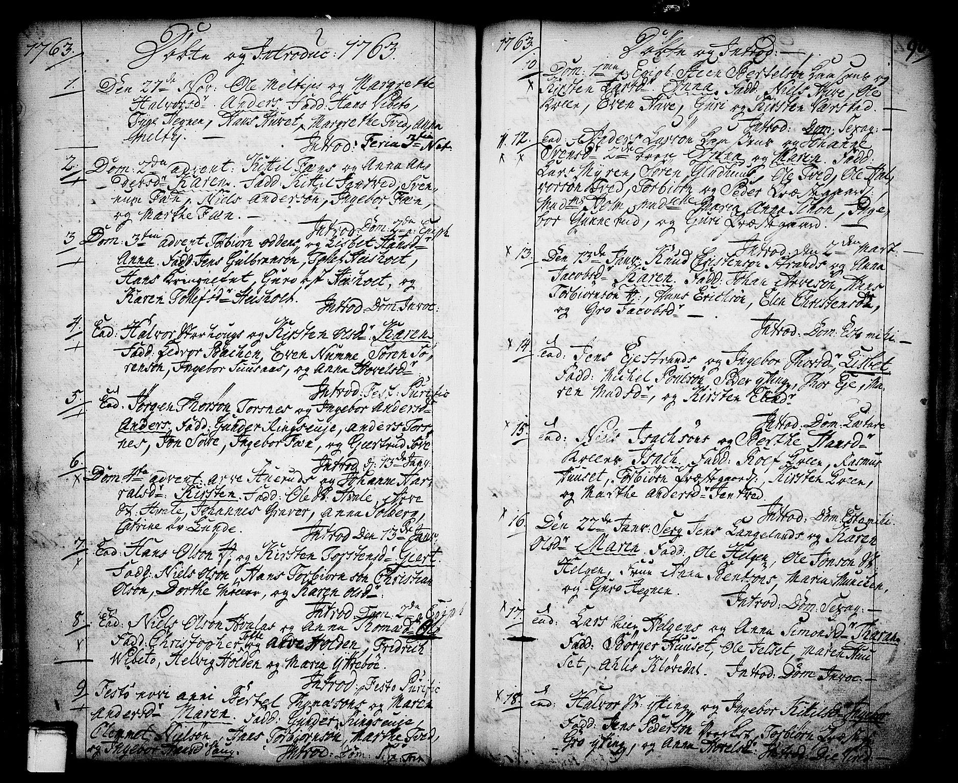 SAKO, Holla kirkebøker, F/Fa/L0001: Ministerialbok nr. 1, 1717-1779, s. 90