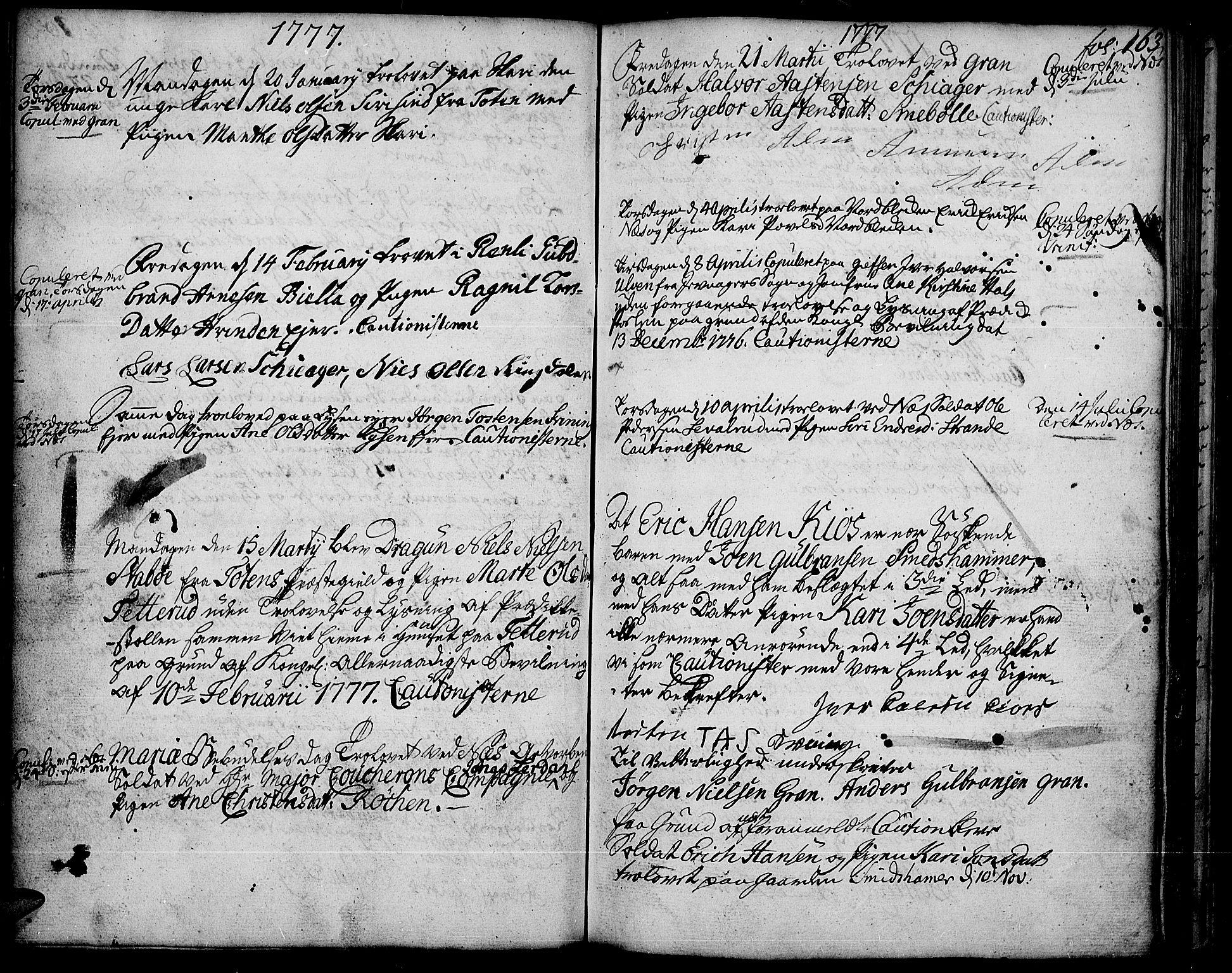 SAH, Gran prestekontor, Ministerialbok nr. 5, 1776-1788, s. 163