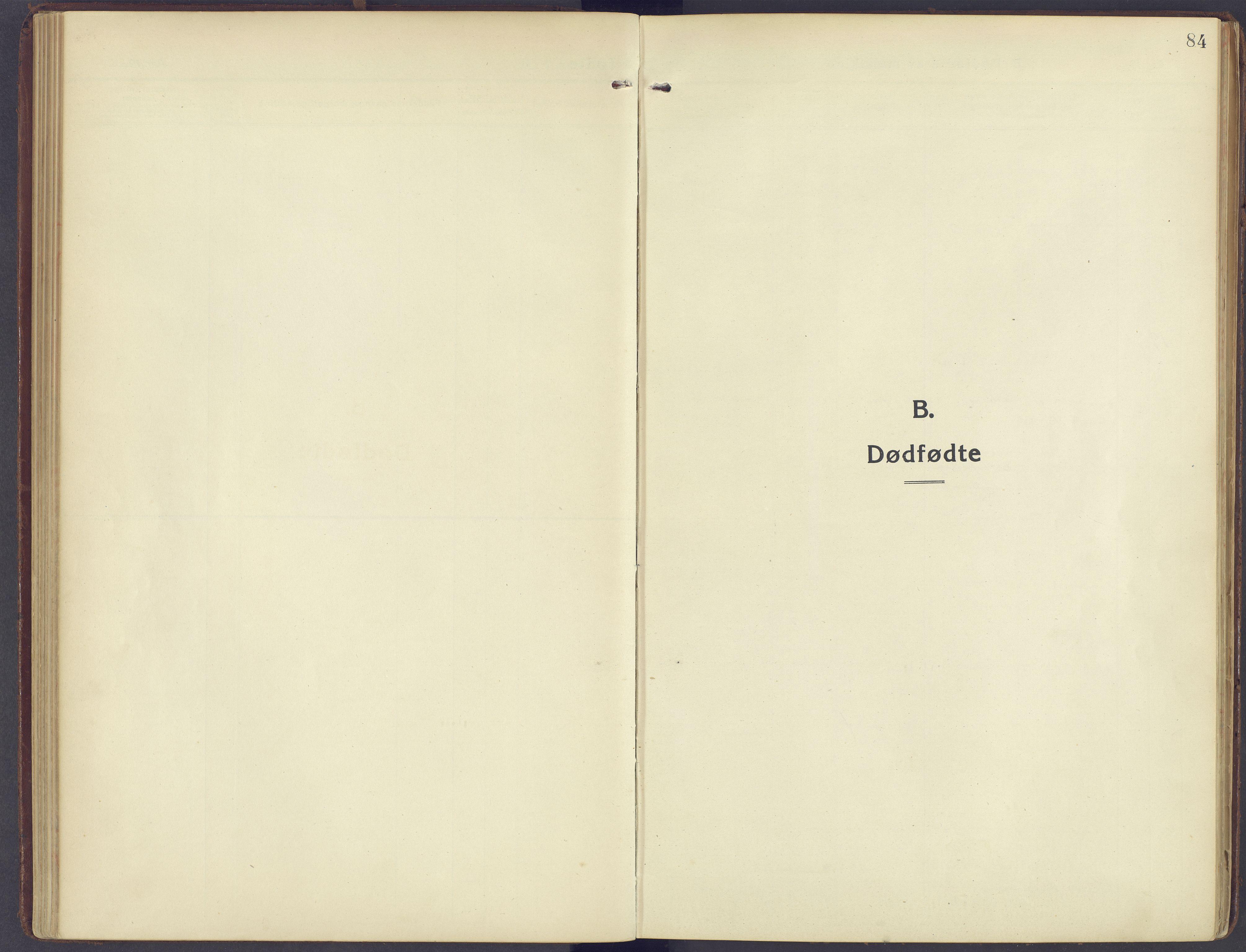SAH, Sør-Fron prestekontor, H/Ha/Haa/L0005: Ministerialbok nr. 5, 1920-1933, s. 84