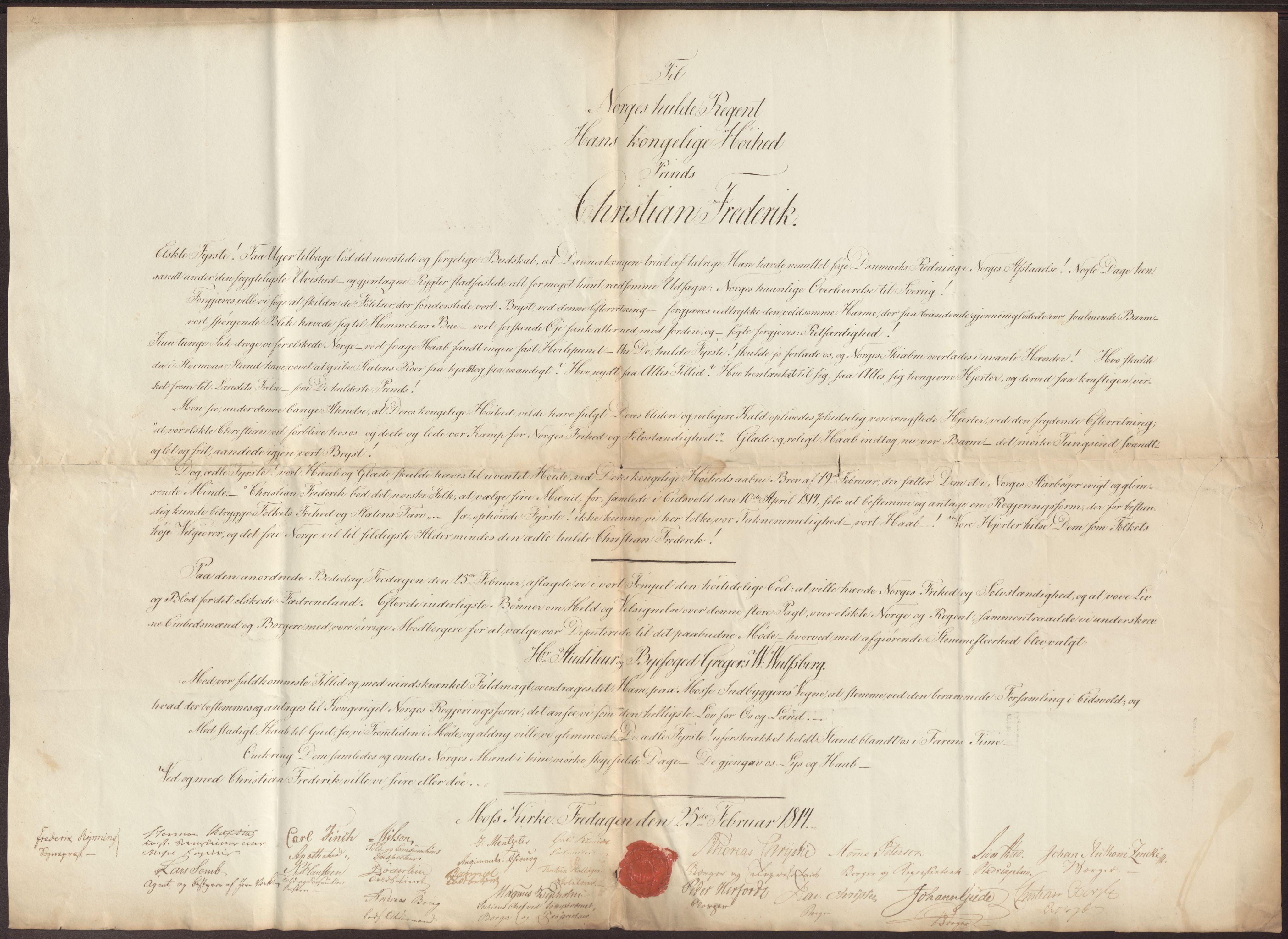 RA, Statsrådssekretariatet, D/Db/L0007: Fullmakter for Eidsvollsrepresentantene i 1814. , 1814, s. 34