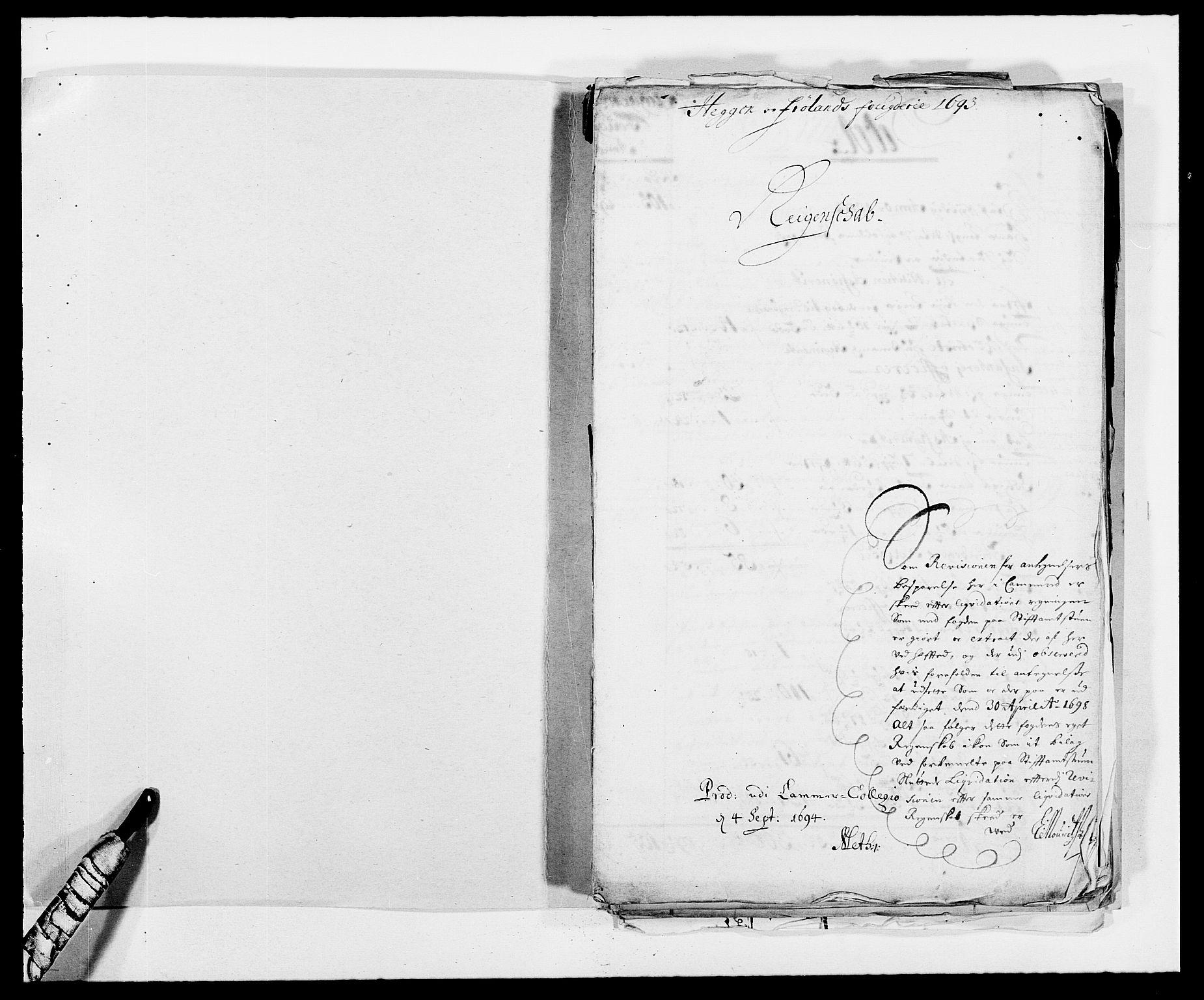 RA, Rentekammeret inntil 1814, Reviderte regnskaper, Fogderegnskap, R06/L0283: Fogderegnskap Heggen og Frøland, 1691-1693, s. 304