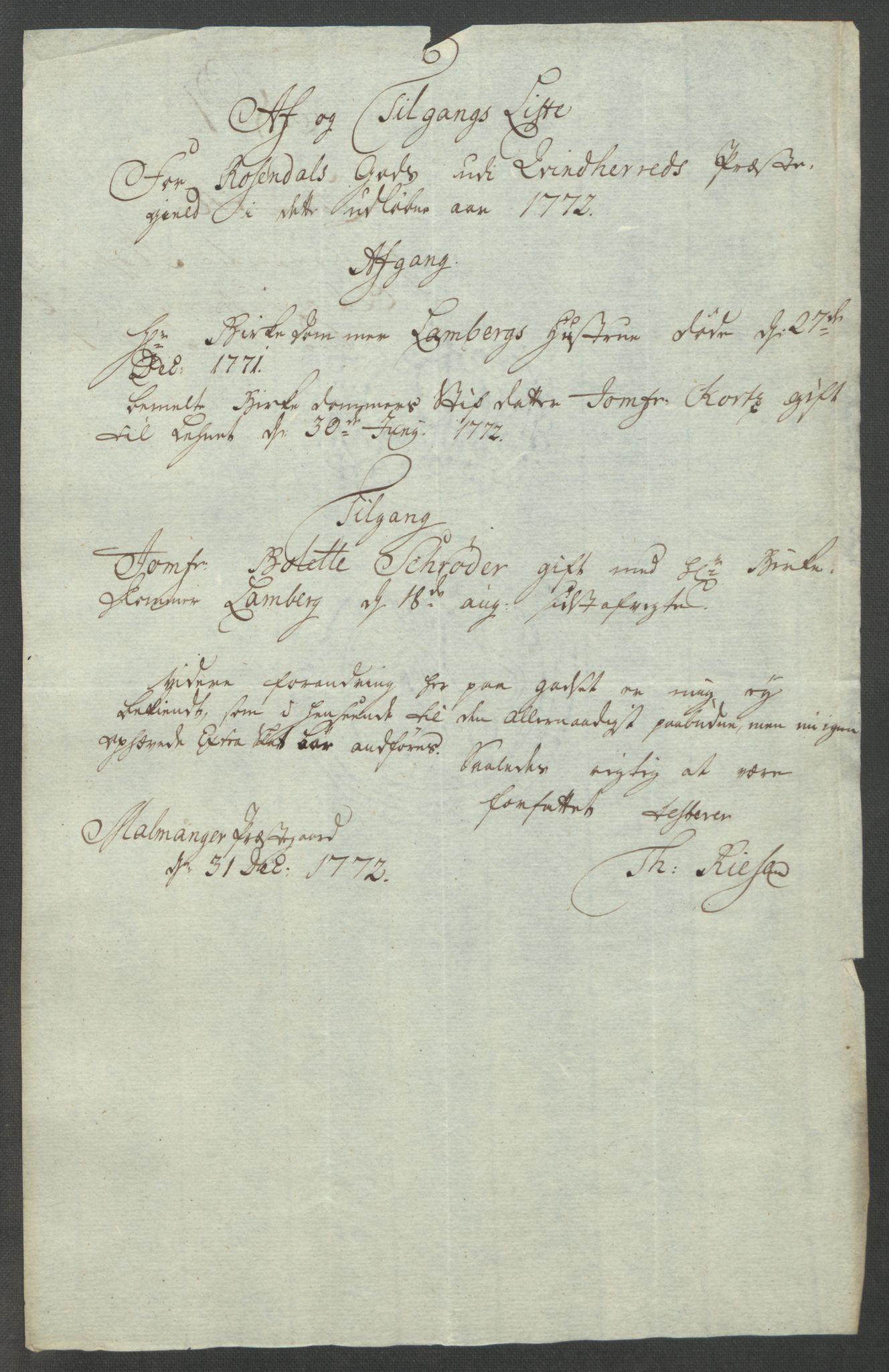 RA, Rentekammeret inntil 1814, Reviderte regnskaper, Fogderegnskap, R49/L3157: Ekstraskatten Rosendal Baroni, 1762-1772, s. 360