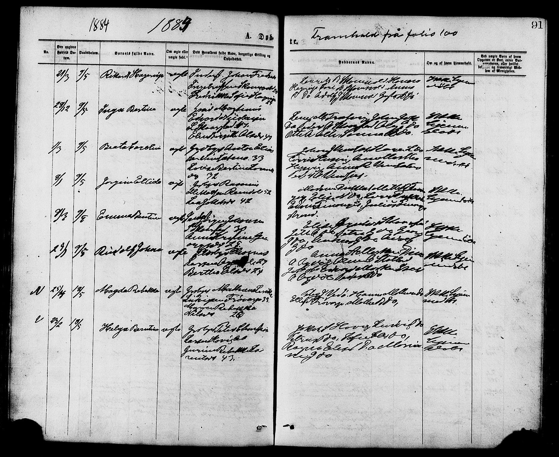 SAT, Ministerialprotokoller, klokkerbøker og fødselsregistre - Nord-Trøndelag, 773/L0616: Ministerialbok nr. 773A07, 1870-1887, s. 91