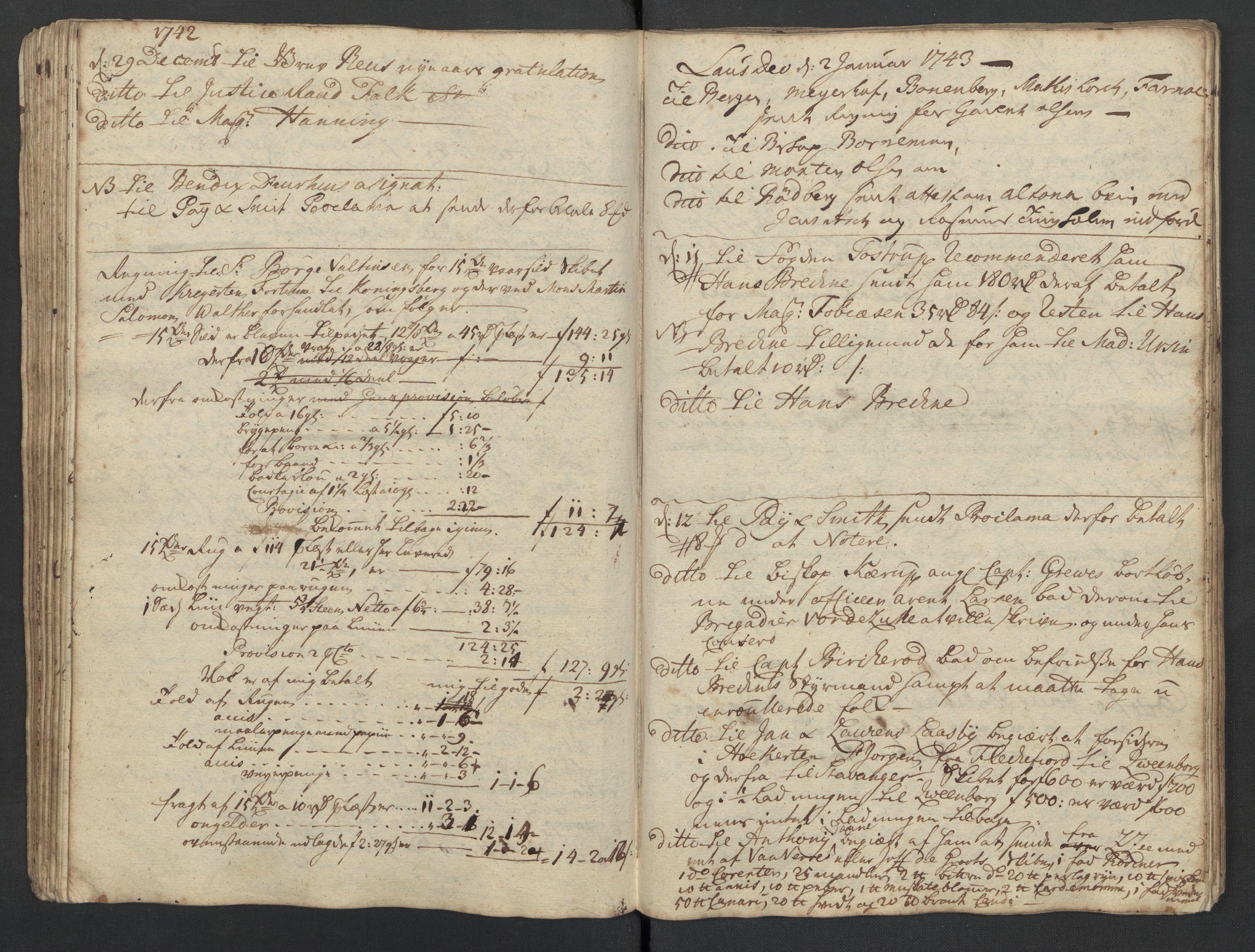 SAST, Pa 0119 - Smith, Lauritz Andersen og Lauritz Lauritzen, O/L0001: Kopibøker m.m., 1740-1745, s. 74