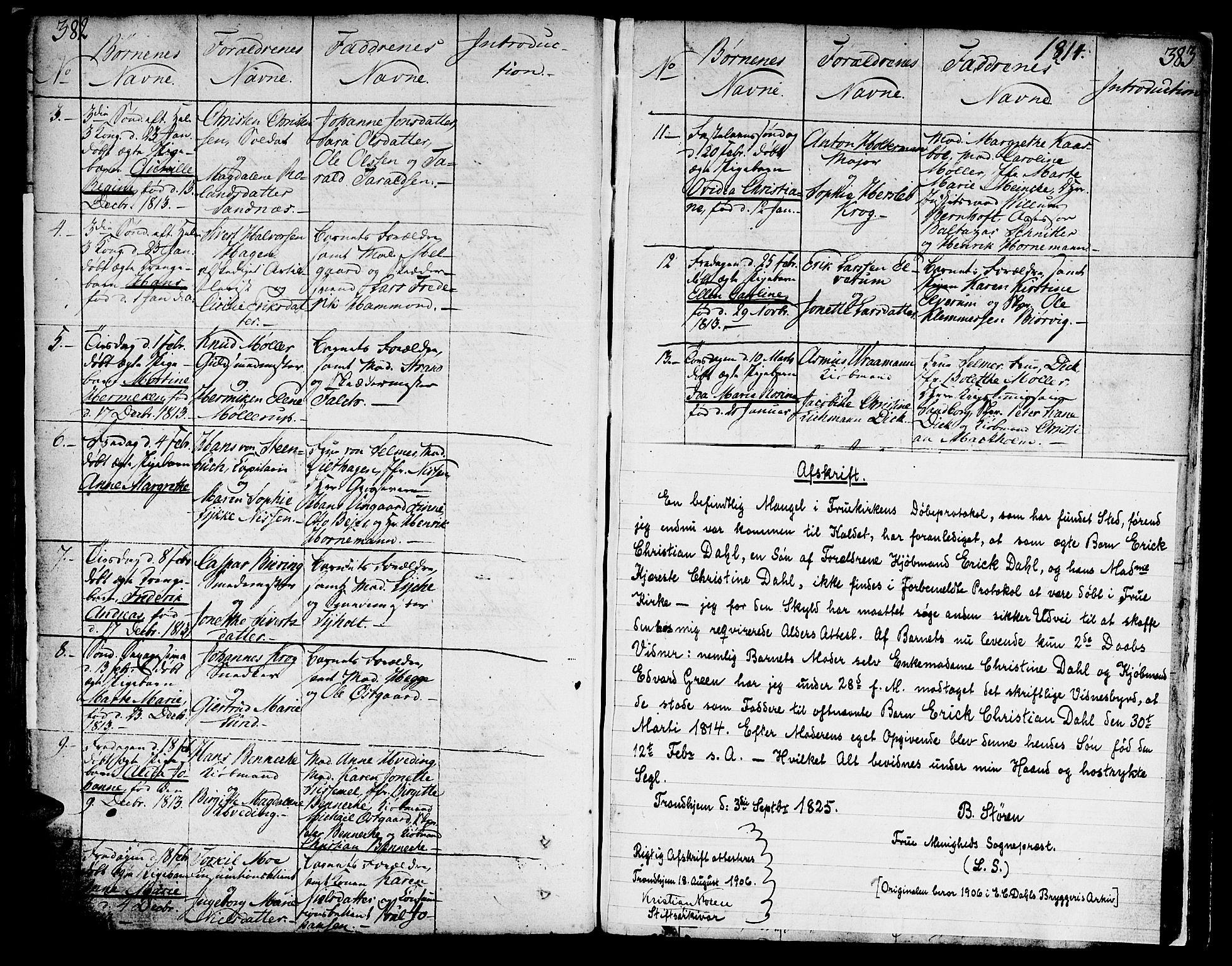 SAT, Ministerialprotokoller, klokkerbøker og fødselsregistre - Sør-Trøndelag, 602/L0104: Ministerialbok nr. 602A02, 1774-1814, s. 382-383