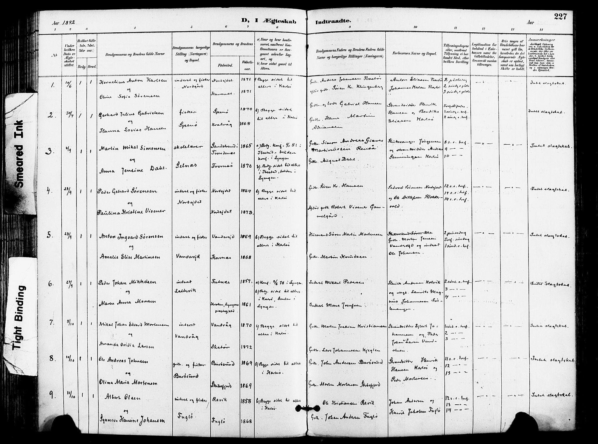 SATØ, Karlsøy sokneprestembete, Ministerialbok nr. 7, 1891-1902, s. 227