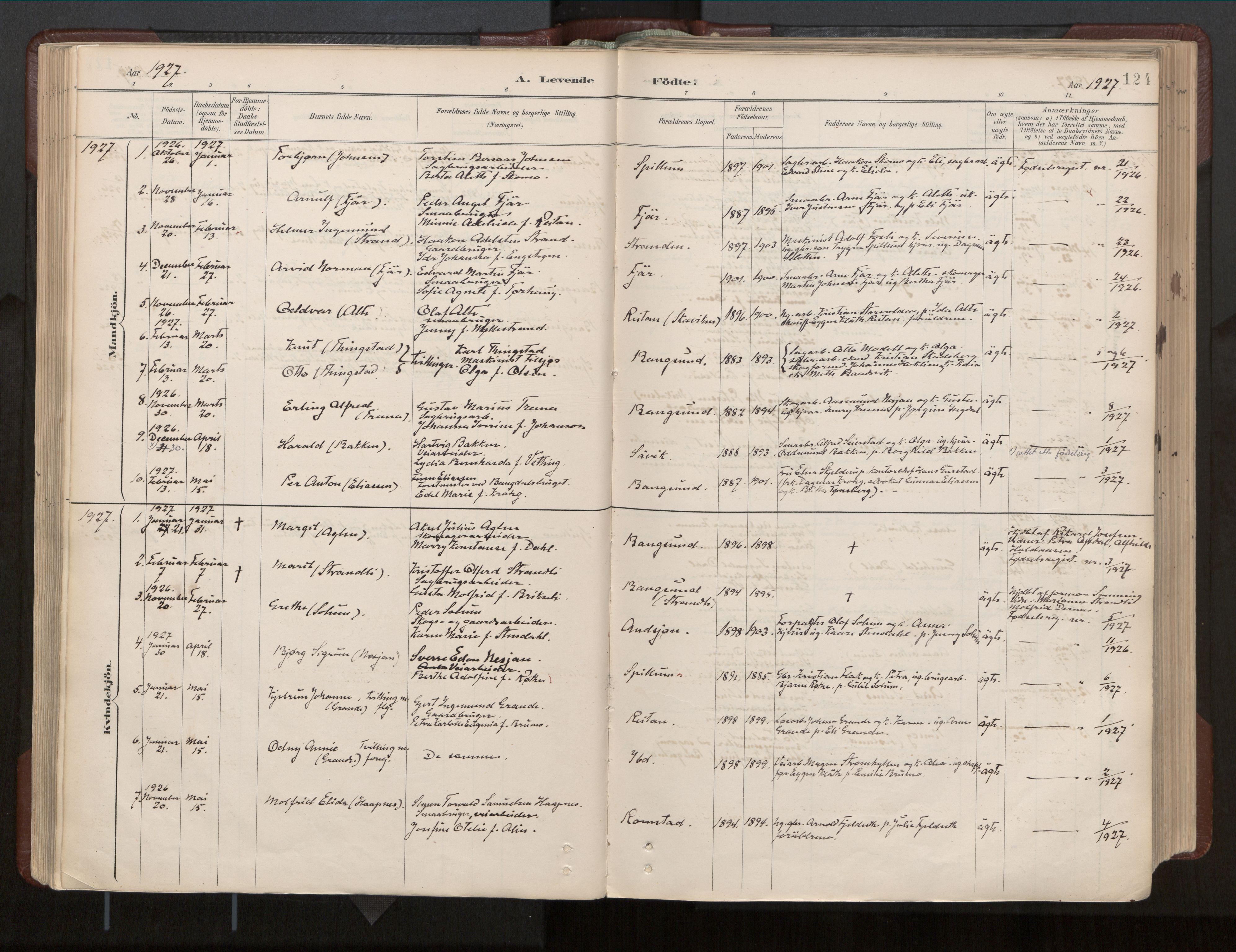 SAT, Ministerialprotokoller, klokkerbøker og fødselsregistre - Nord-Trøndelag, 770/L0589: Ministerialbok nr. 770A03, 1887-1929, s. 124