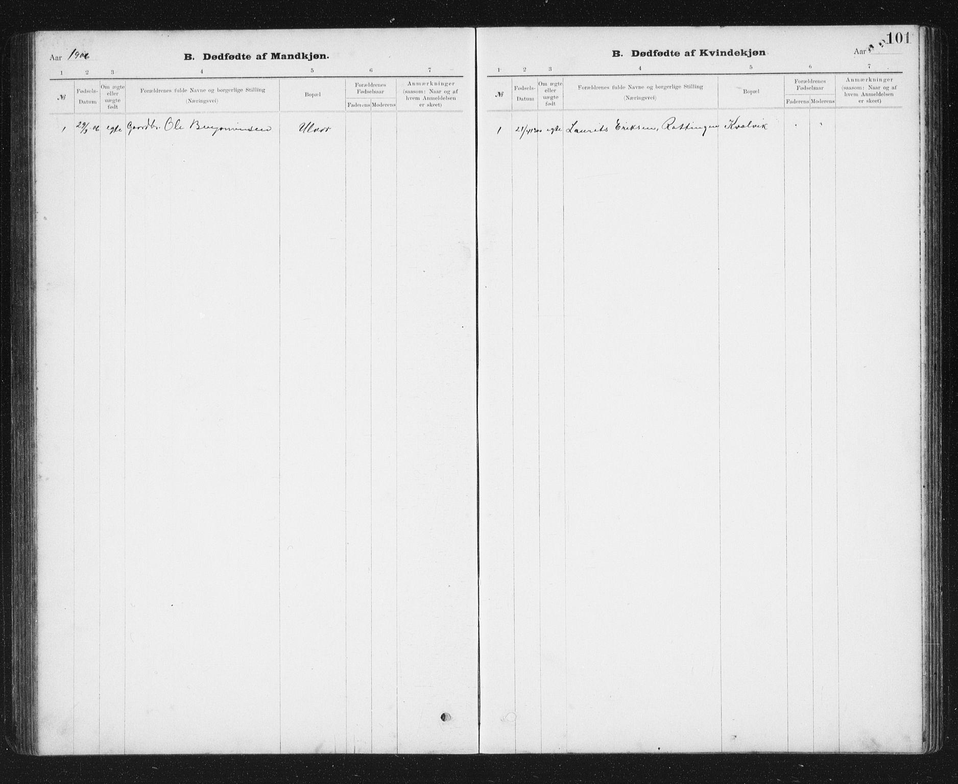 SAT, Ministerialprotokoller, klokkerbøker og fødselsregistre - Sør-Trøndelag, 637/L0563: Klokkerbok nr. 637C04, 1899-1940, s. 101