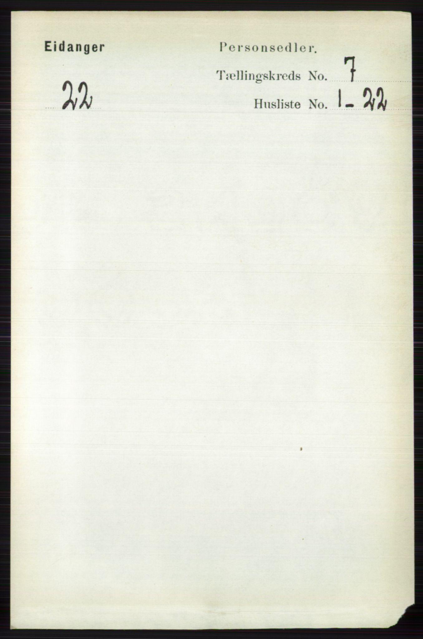 RA, Folketelling 1891 for 0813 Eidanger herred, 1891, s. 2750