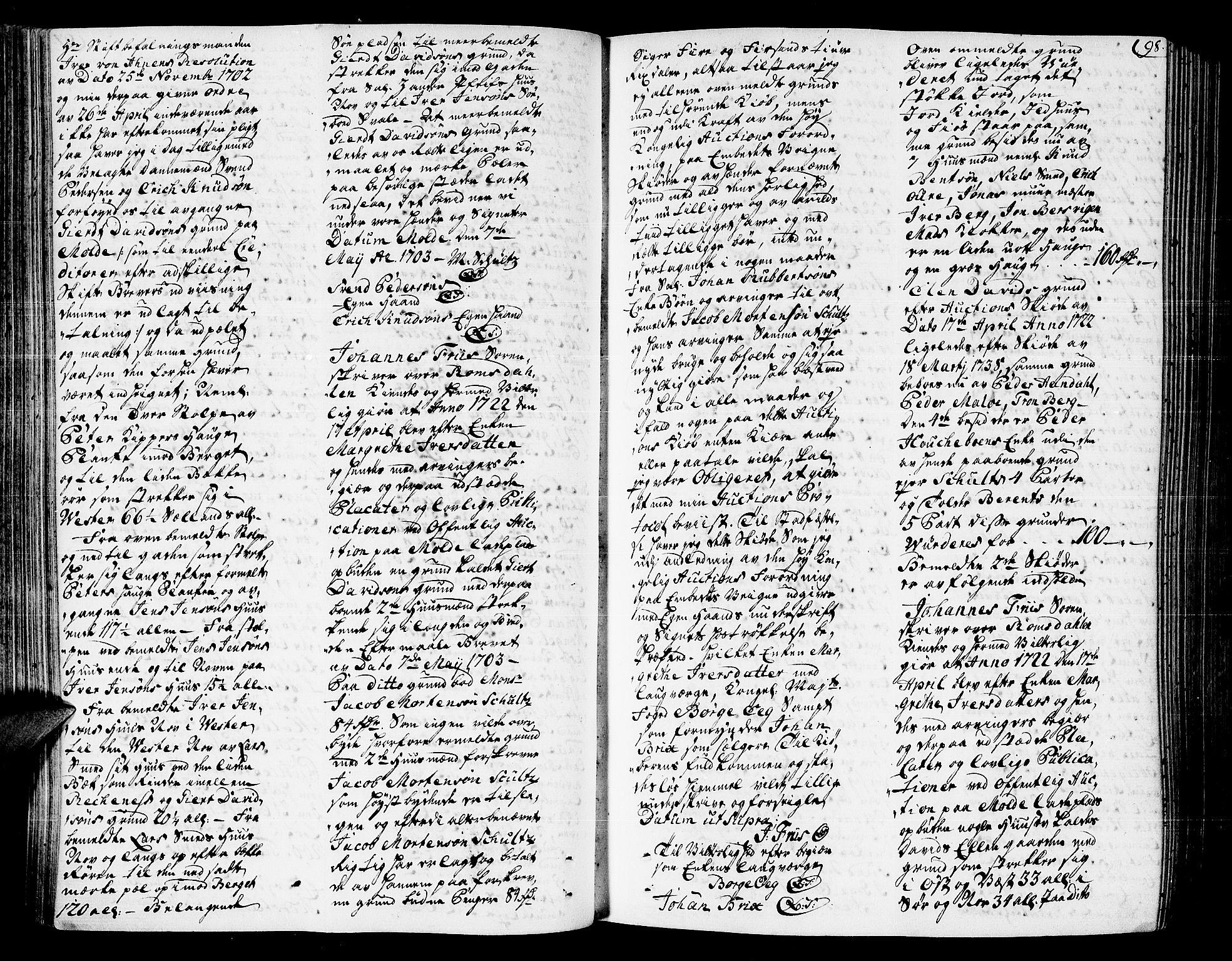 SAT, Romsdal sorenskriveri, 3/3A/L0007: Skifteprotokoll, 1740-1751, s. 97b-98a