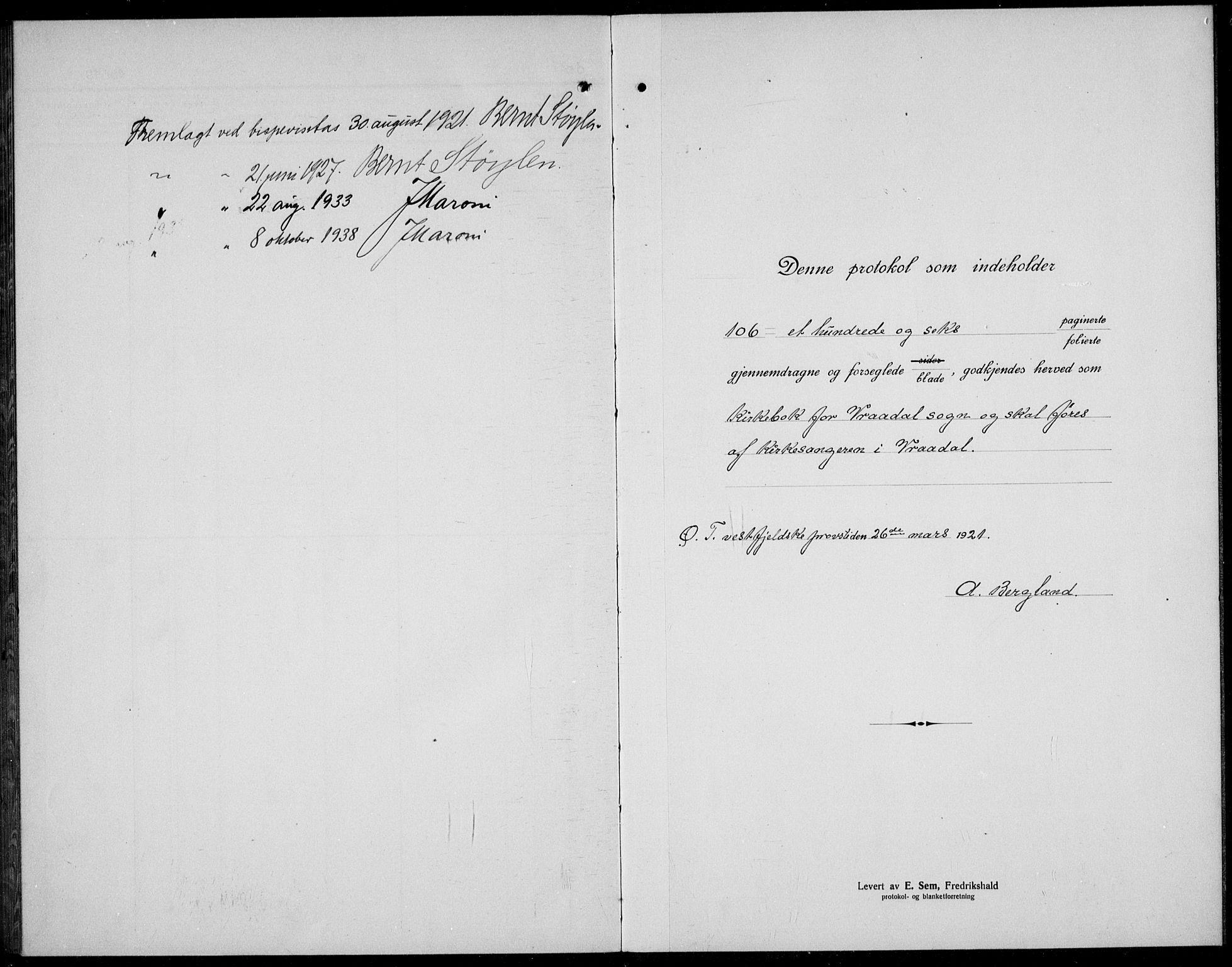SAKO, Kviteseid kirkebøker, G/Gc/L0002: Klokkerbok nr. III 2, 1917-1937