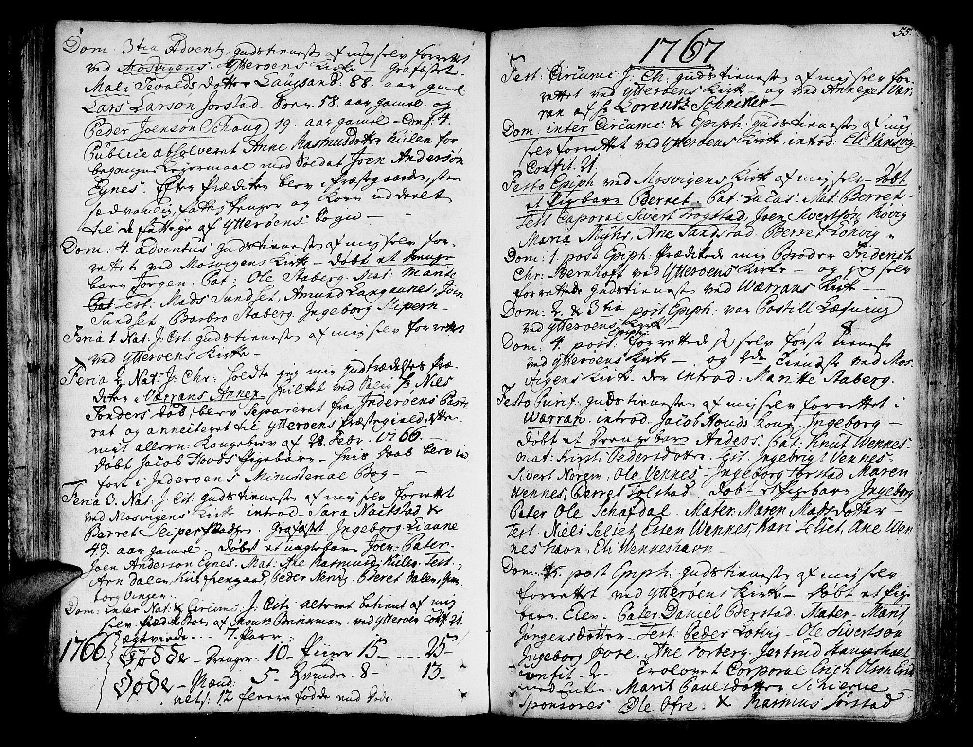 SAT, Ministerialprotokoller, klokkerbøker og fødselsregistre - Nord-Trøndelag, 722/L0216: Ministerialbok nr. 722A03, 1756-1816, s. 55