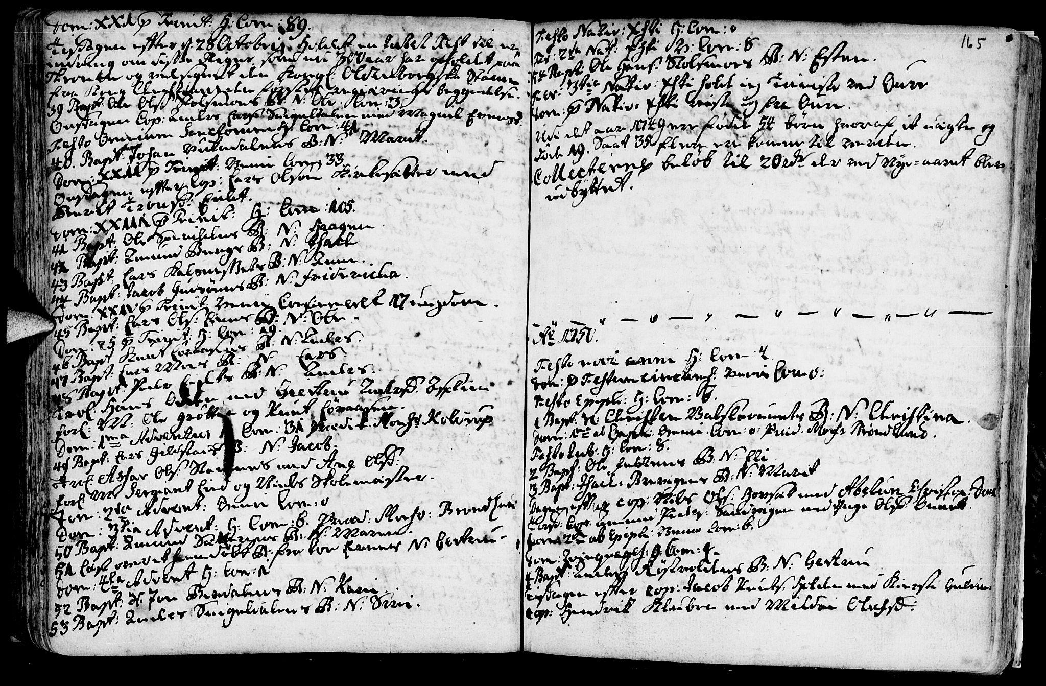 SAT, Ministerialprotokoller, klokkerbøker og fødselsregistre - Sør-Trøndelag, 630/L0488: Ministerialbok nr. 630A01, 1717-1756, s. 164-165