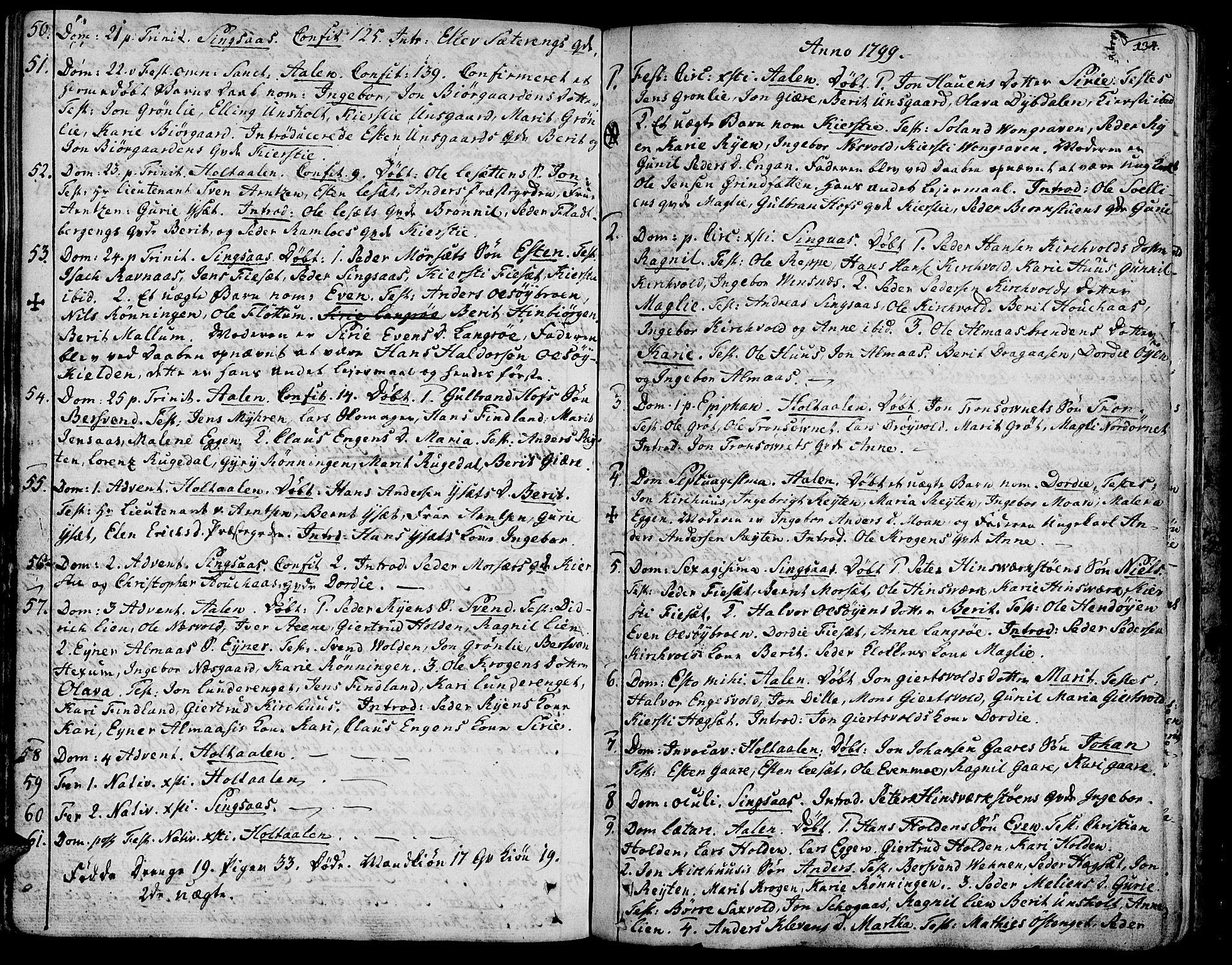 SAT, Ministerialprotokoller, klokkerbøker og fødselsregistre - Sør-Trøndelag, 685/L0952: Ministerialbok nr. 685A01, 1745-1804, s. 134