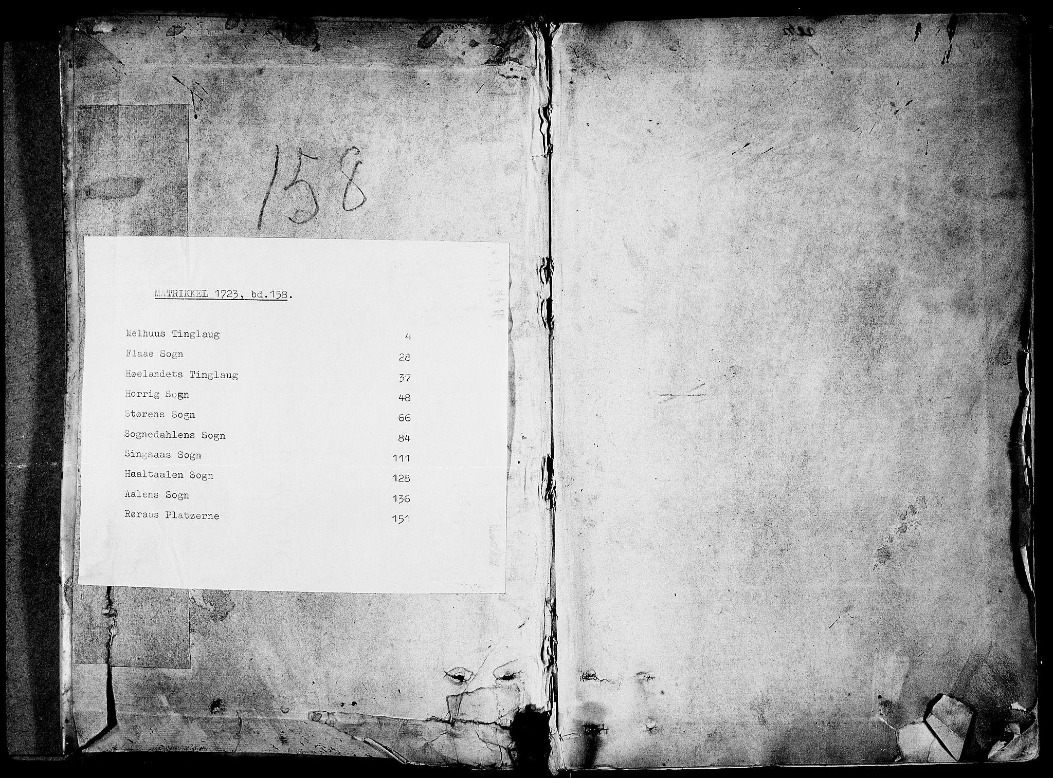 RA, Rentekammeret inntil 1814, Realistisk ordnet avdeling, N/Nb/Nbf/L0158: Gauldal eksaminasjonsprotokoll, 1723, s. upaginert