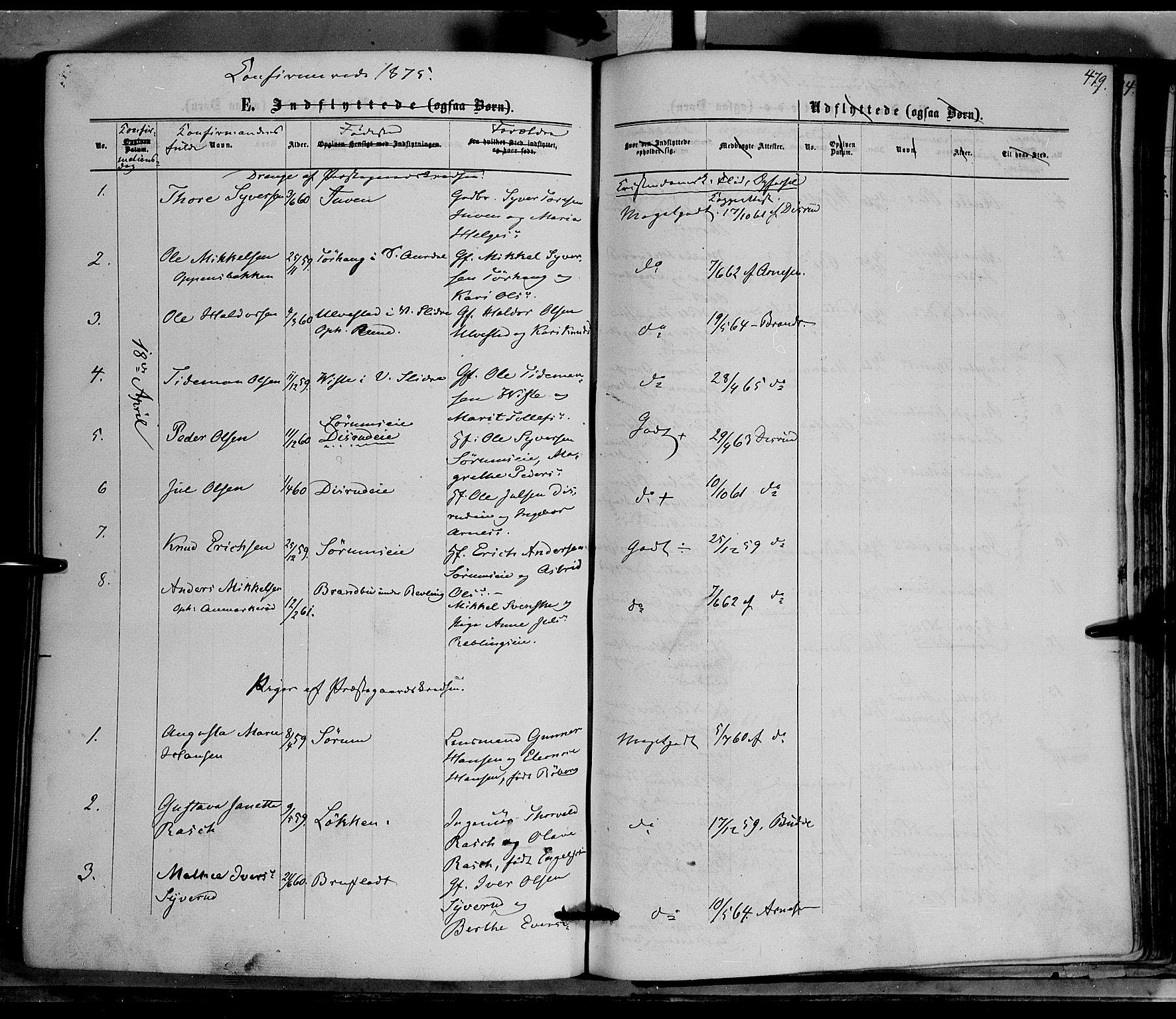 SAH, Nord-Aurdal prestekontor, Ministerialbok nr. 8, 1863-1875, s. 479