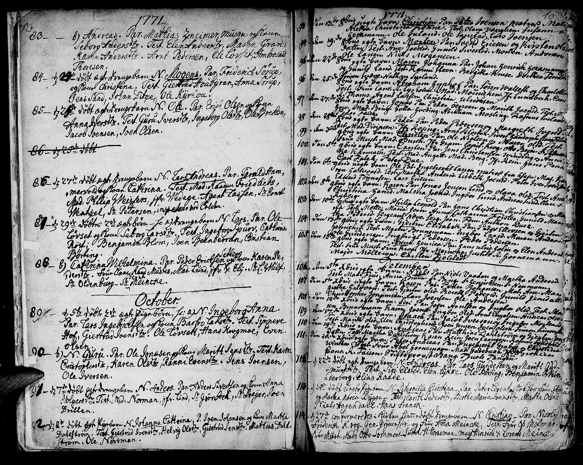 SAT, Ministerialprotokoller, klokkerbøker og fødselsregistre - Sør-Trøndelag, 601/L0039: Ministerialbok nr. 601A07, 1770-1819, s. 10