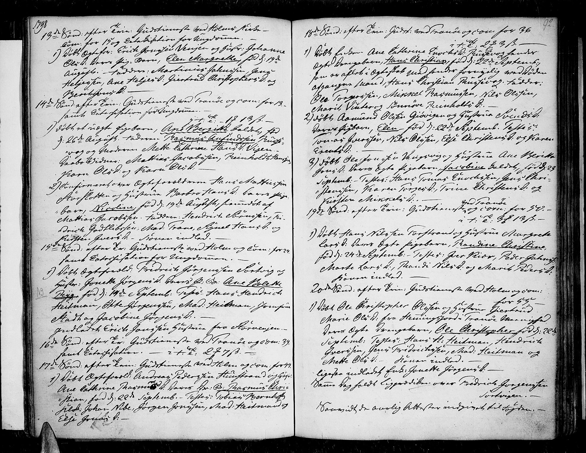 SATØ, Tranøy sokneprestkontor, I/Ia/Iaa/L0002kirke: Ministerialbok nr. 2, 1773-1806, s. 92