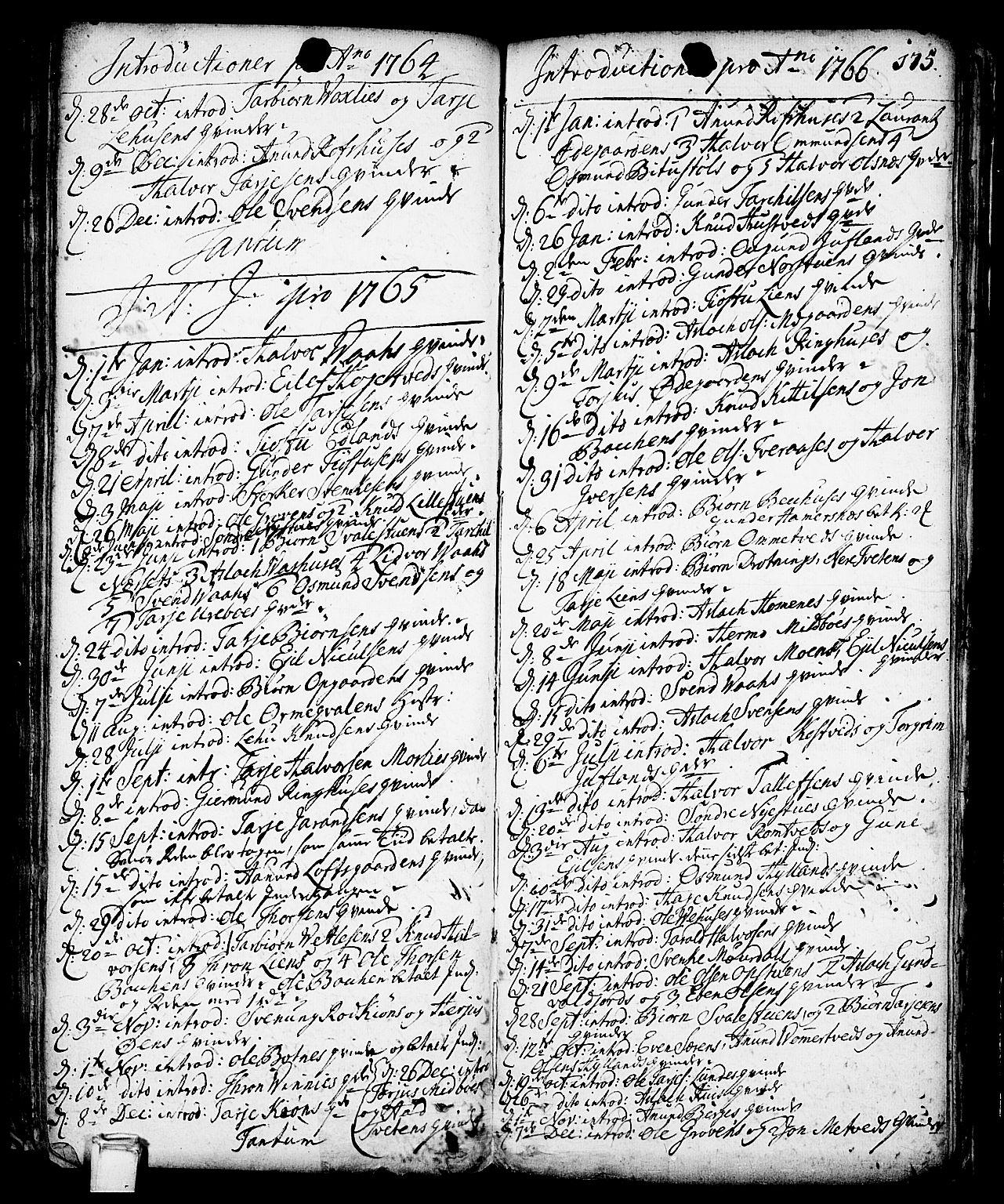 SAKO, Vinje kirkebøker, F/Fa/L0001: Ministerialbok nr. I 1, 1717-1766, s. 175