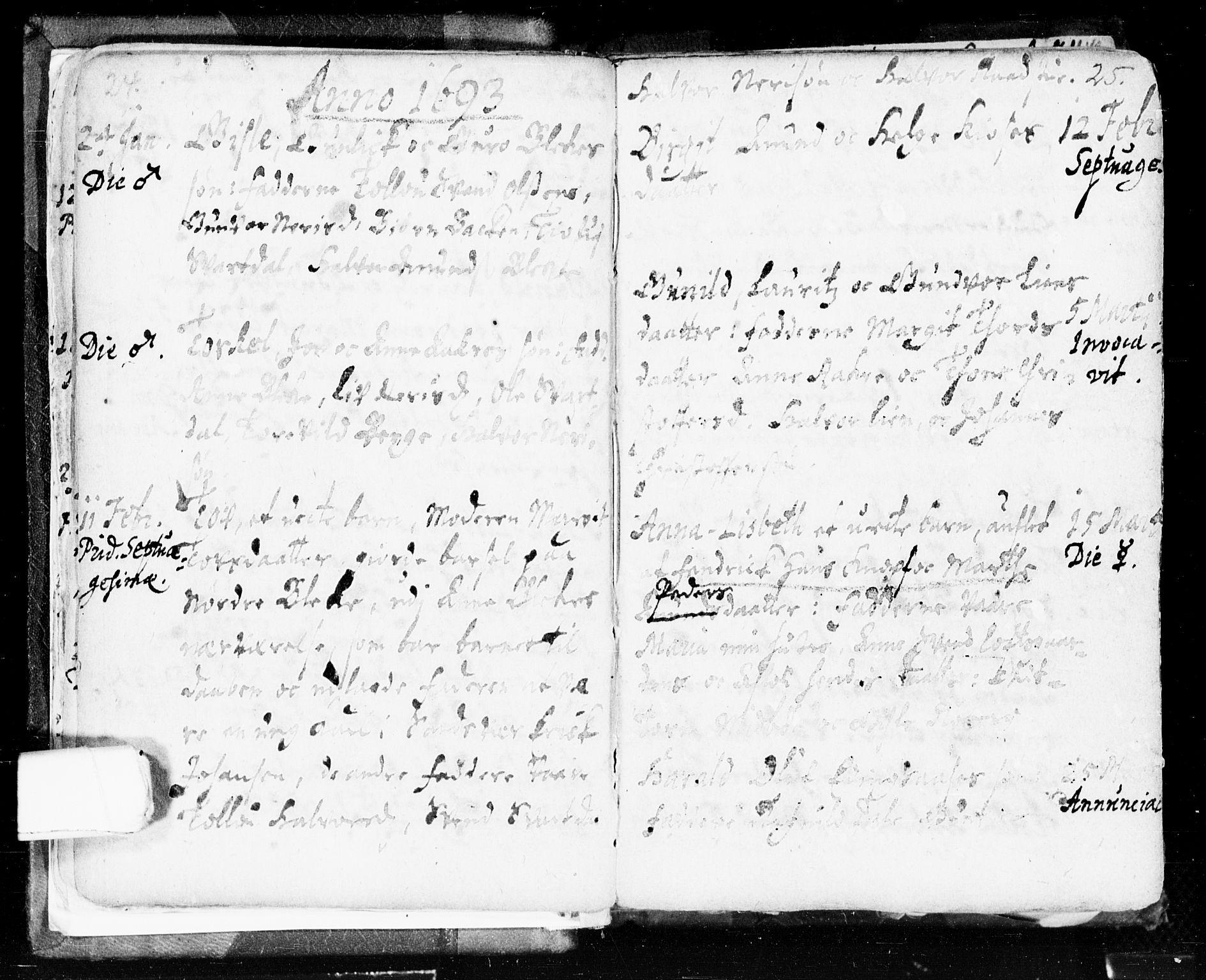 SAKO, Seljord kirkebøker, F/Fa/L0002: Ministerialbok nr. I 2, 1689-1713, s. 24-25