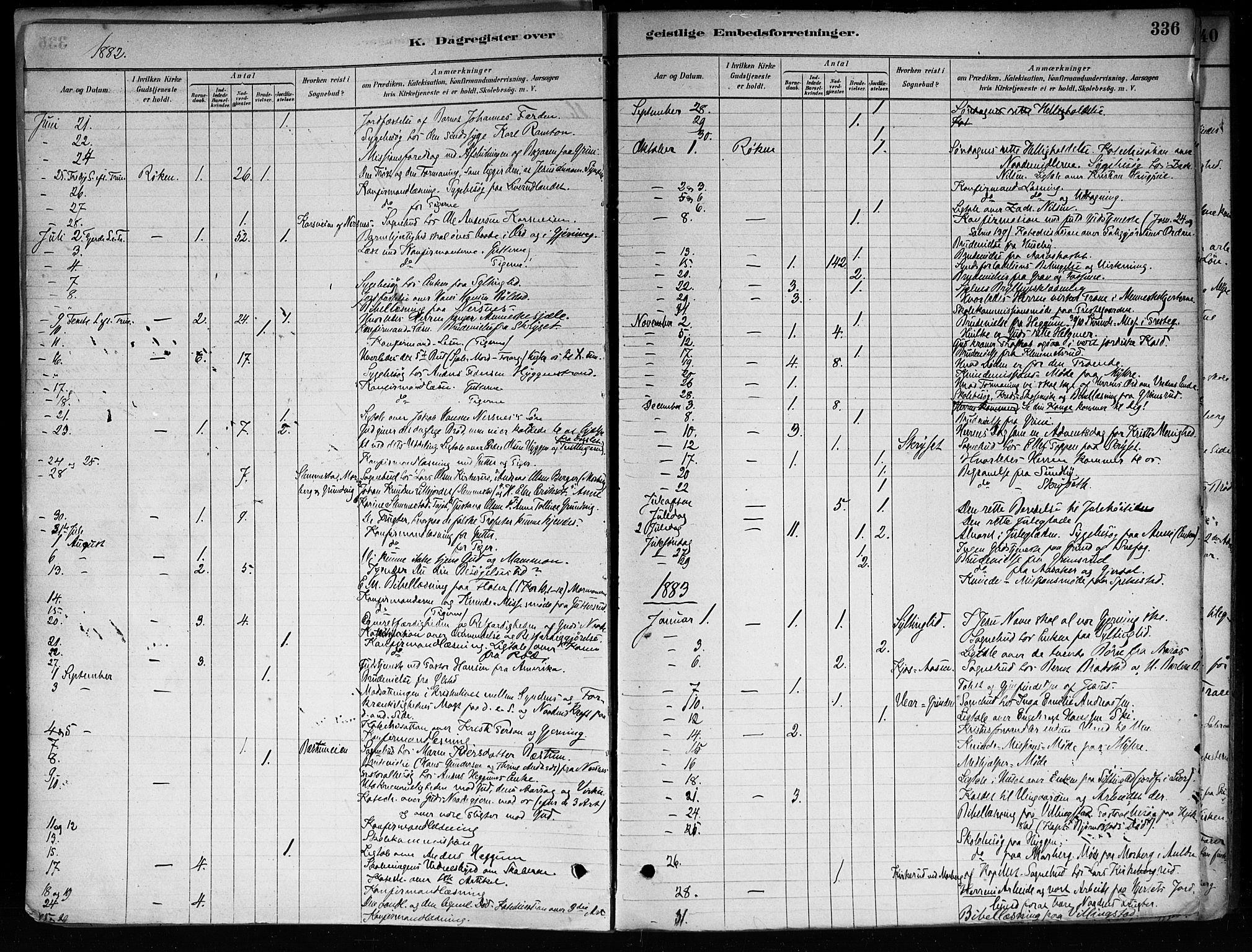 SAKO, Røyken kirkebøker, F/Fa/L0008: Ministerialbok nr. 8, 1880-1897, s. 336