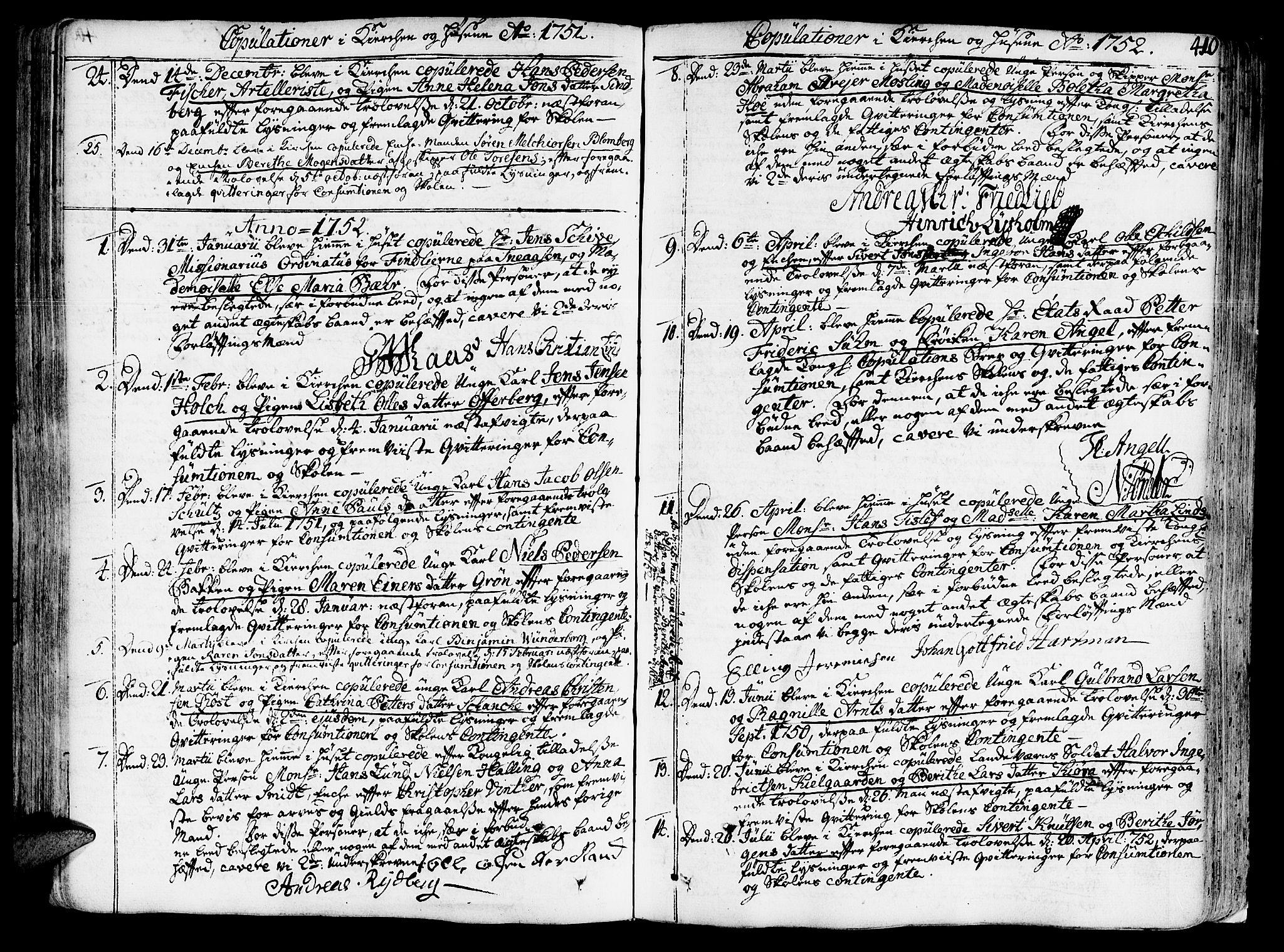 SAT, Ministerialprotokoller, klokkerbøker og fødselsregistre - Sør-Trøndelag, 602/L0103: Ministerialbok nr. 602A01, 1732-1774, s. 410
