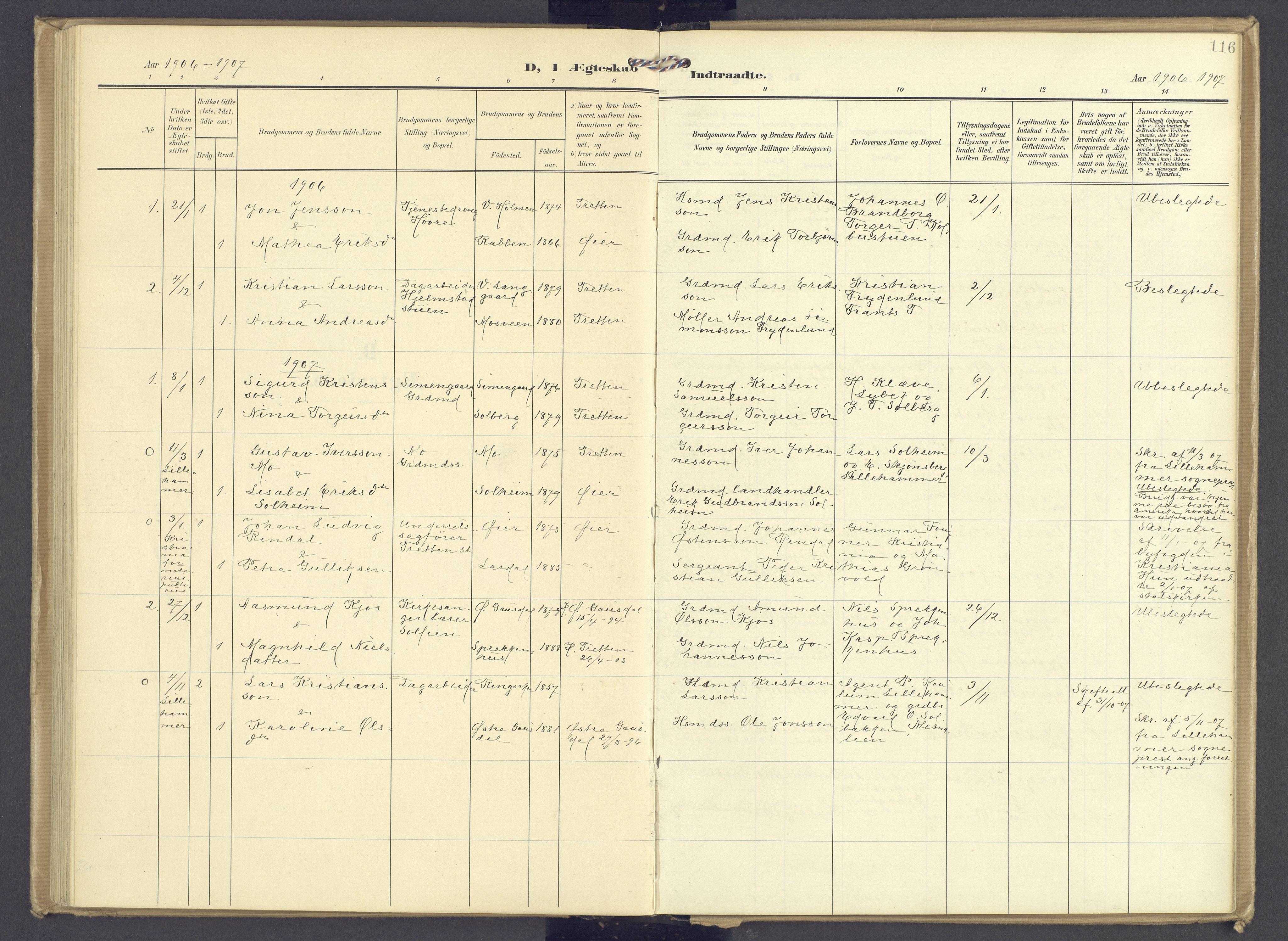 SAH, Øyer prestekontor, Ministerialbok nr. 13, 1905-1920, s. 116