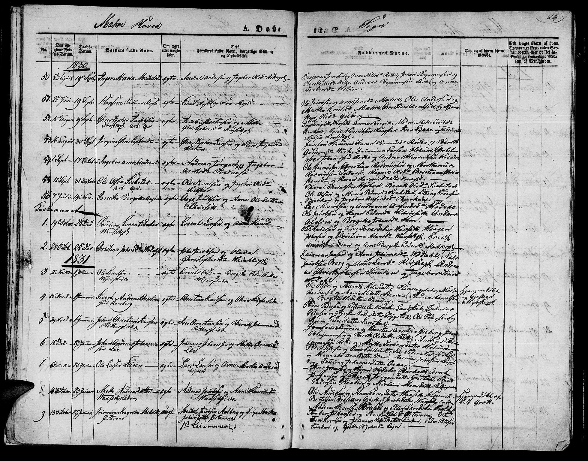 SAT, Ministerialprotokoller, klokkerbøker og fødselsregistre - Nord-Trøndelag, 735/L0336: Ministerialbok nr. 735A05 /1, 1825-1835, s. 26