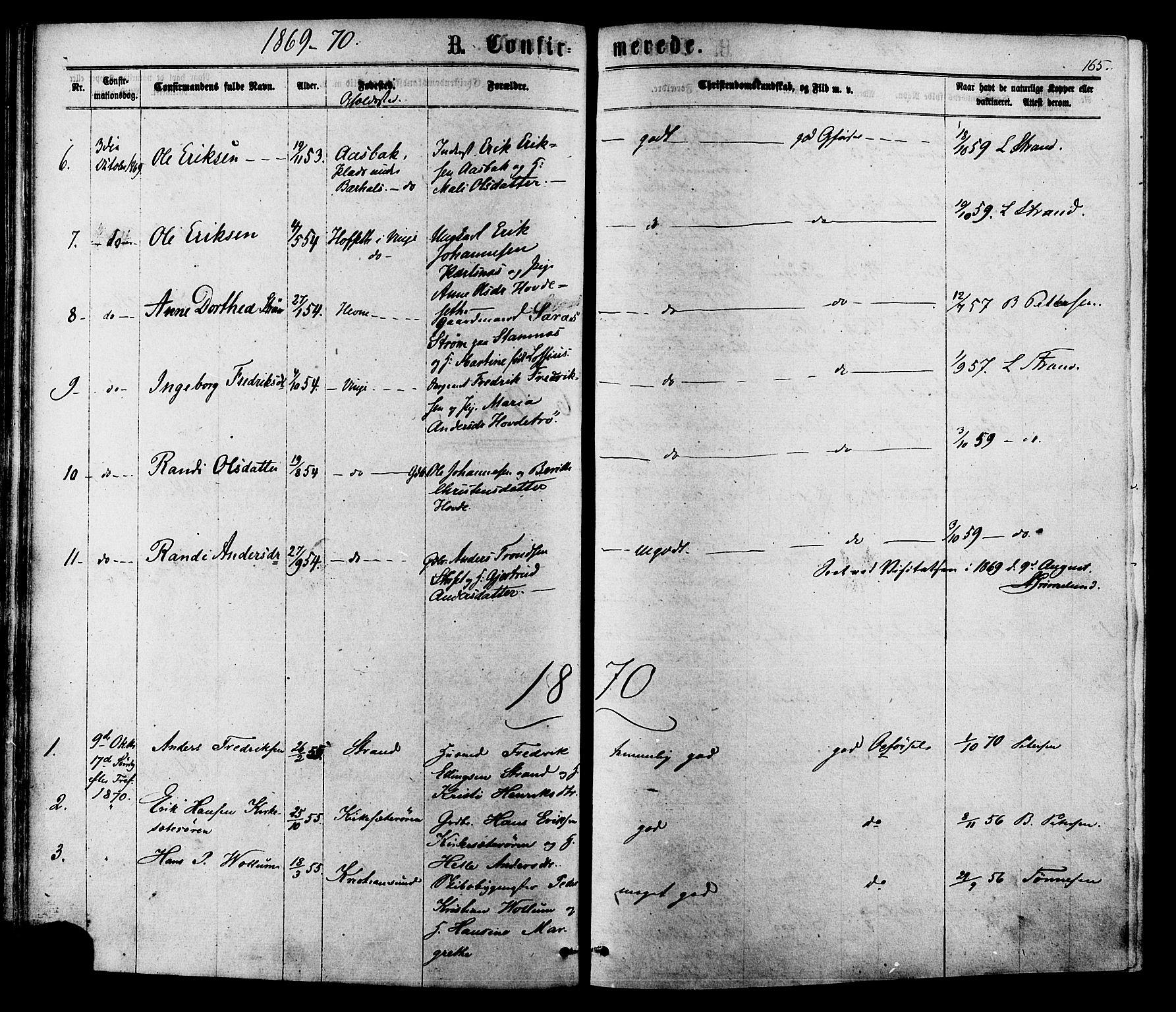 SAT, Ministerialprotokoller, klokkerbøker og fødselsregistre - Sør-Trøndelag, 630/L0495: Ministerialbok nr. 630A08, 1868-1878, s. 165
