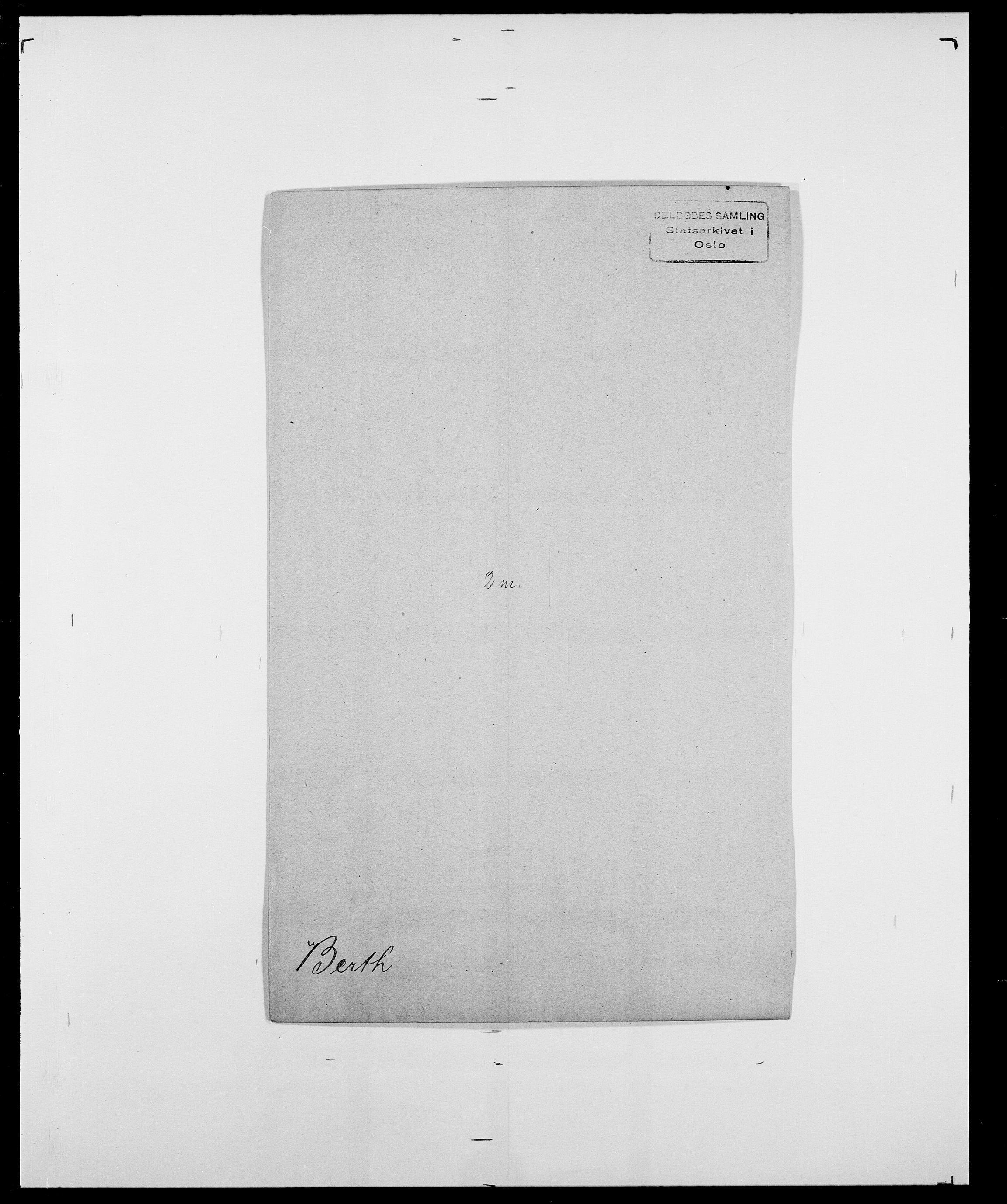 SAO, Delgobe, Charles Antoine - samling, D/Da/L0004: Bergendahl - Blære, s. 104