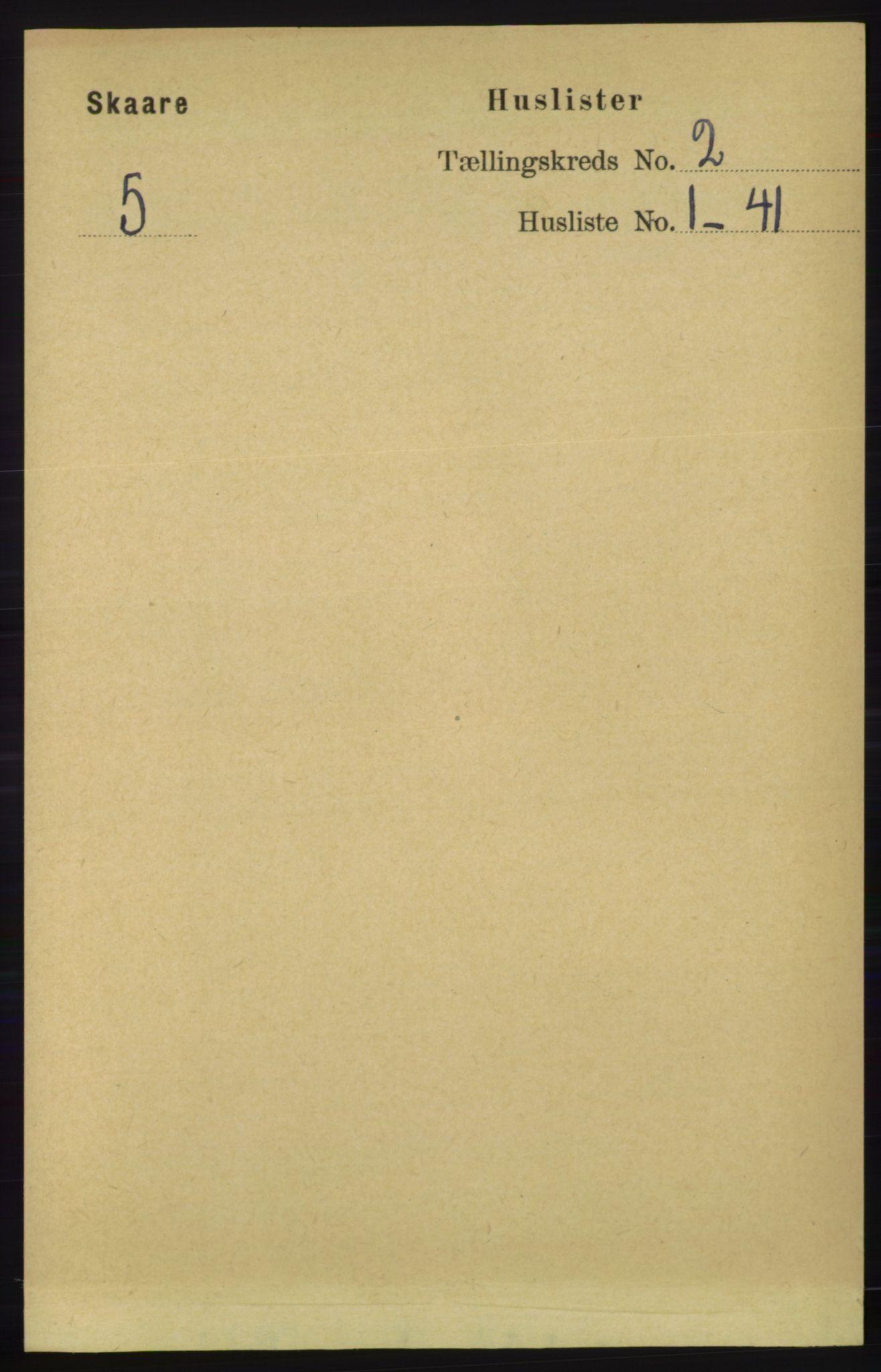 RA, Folketelling 1891 for 1153 Skåre herred, 1891, s. 689