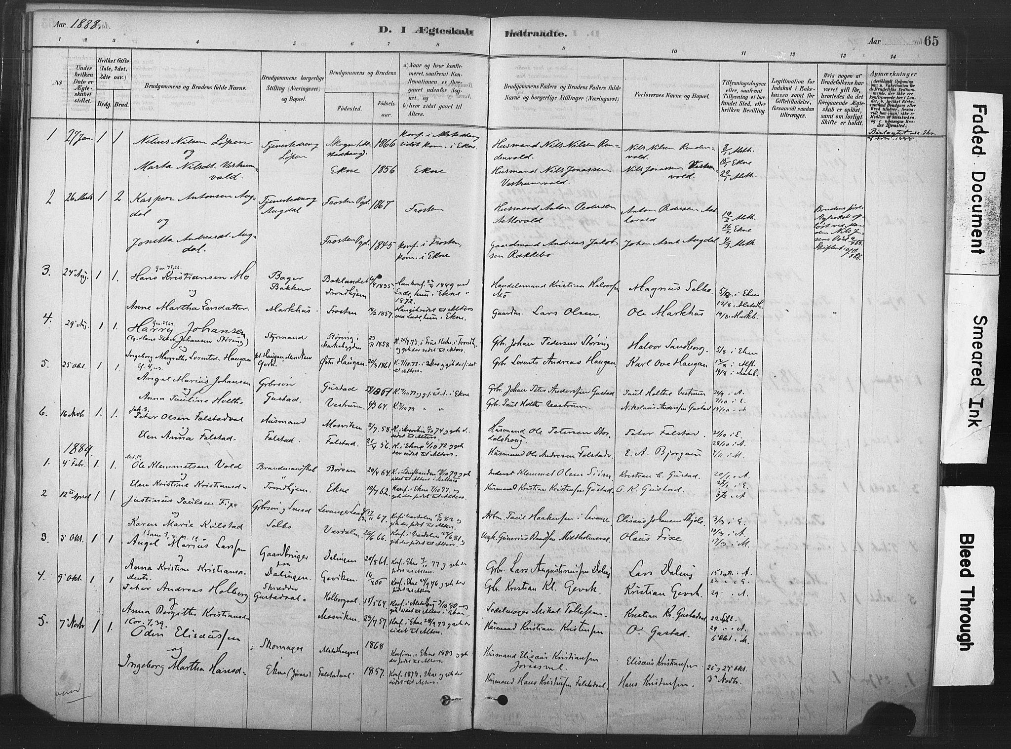 SAT, Ministerialprotokoller, klokkerbøker og fødselsregistre - Nord-Trøndelag, 719/L0178: Ministerialbok nr. 719A01, 1878-1900, s. 65