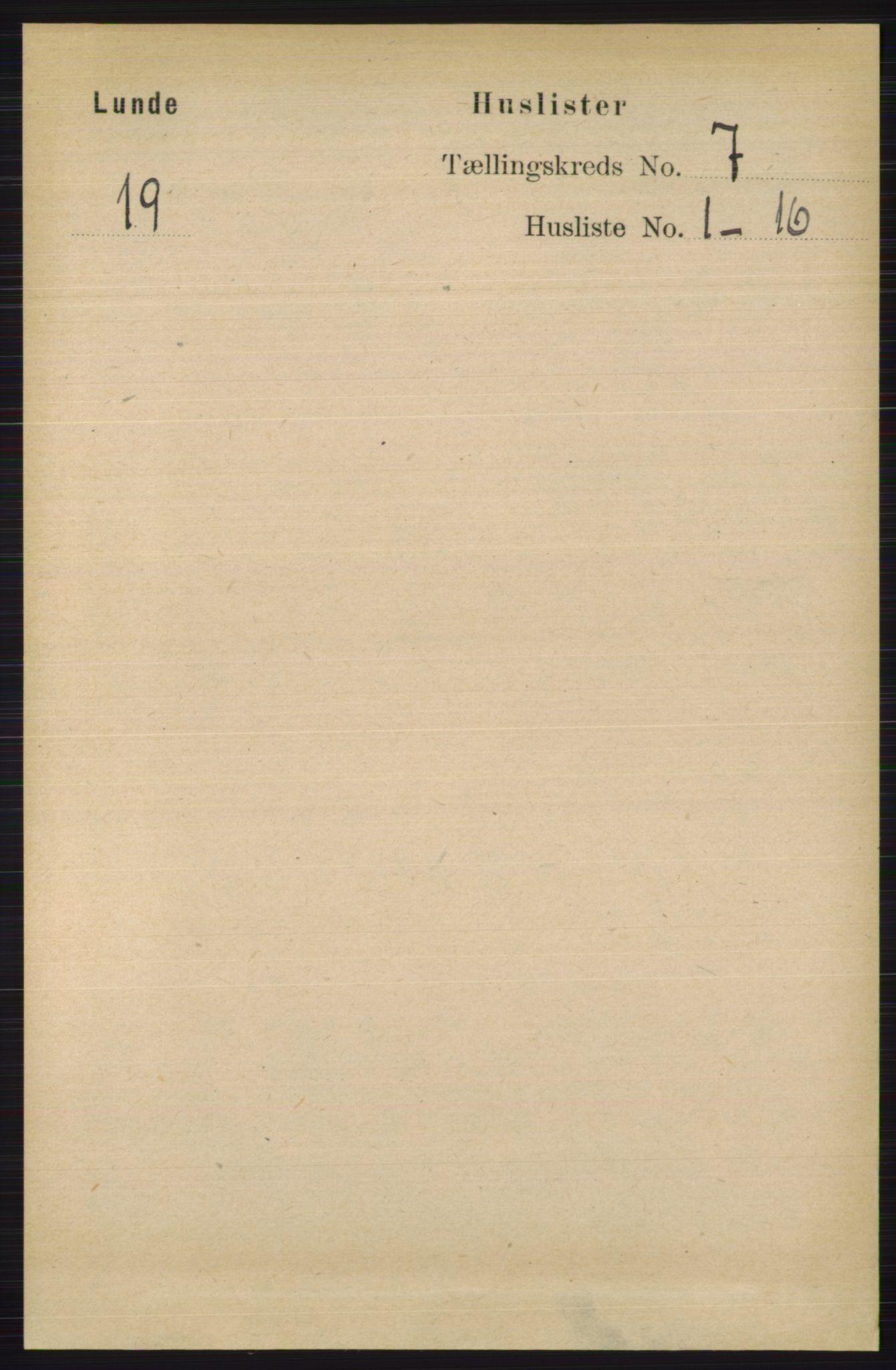 RA, Folketelling 1891 for 0820 Lunde herred, 1891, s. 2180