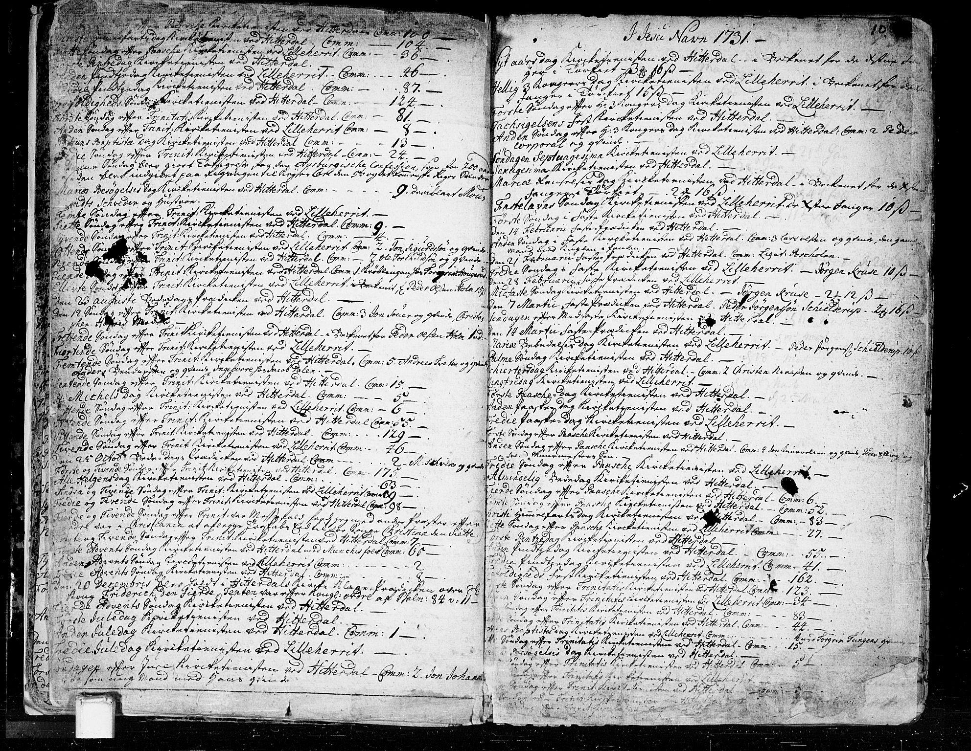 SAKO, Heddal kirkebøker, F/Fa/L0003: Ministerialbok nr. I 3, 1723-1783, s. 10