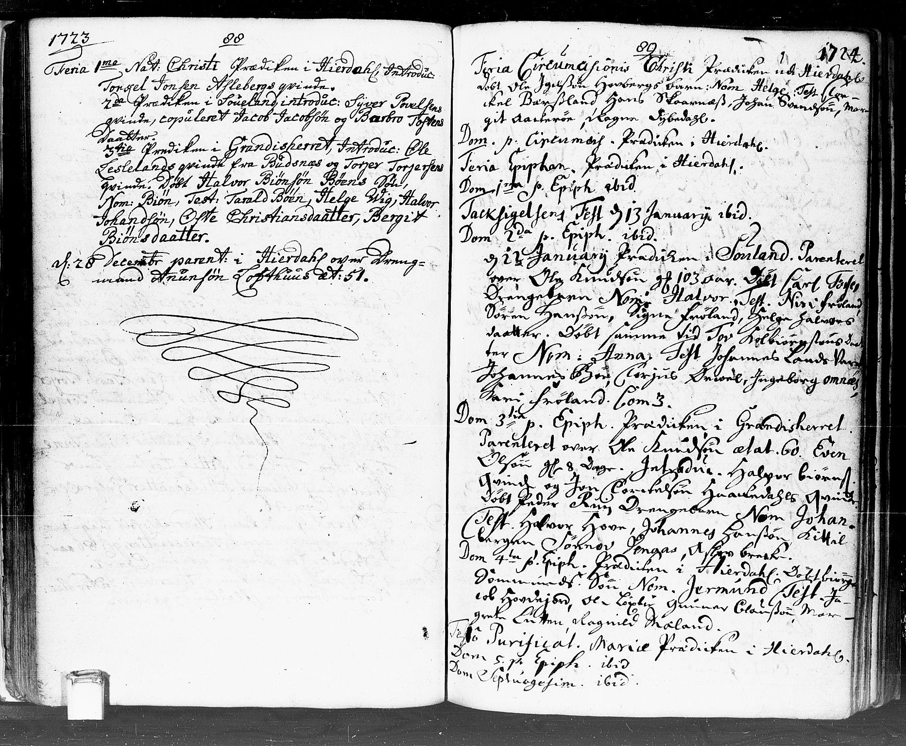 SAKO, Hjartdal kirkebøker, F/Fa/L0002: Ministerialbok nr. I 2, 1716-1754, s. 88-89
