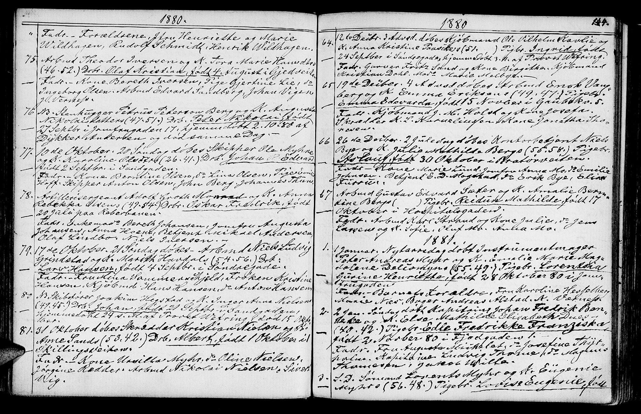 SAT, Ministerialprotokoller, klokkerbøker og fødselsregistre - Sør-Trøndelag, 602/L0142: Klokkerbok nr. 602C10, 1872-1894, s. 144