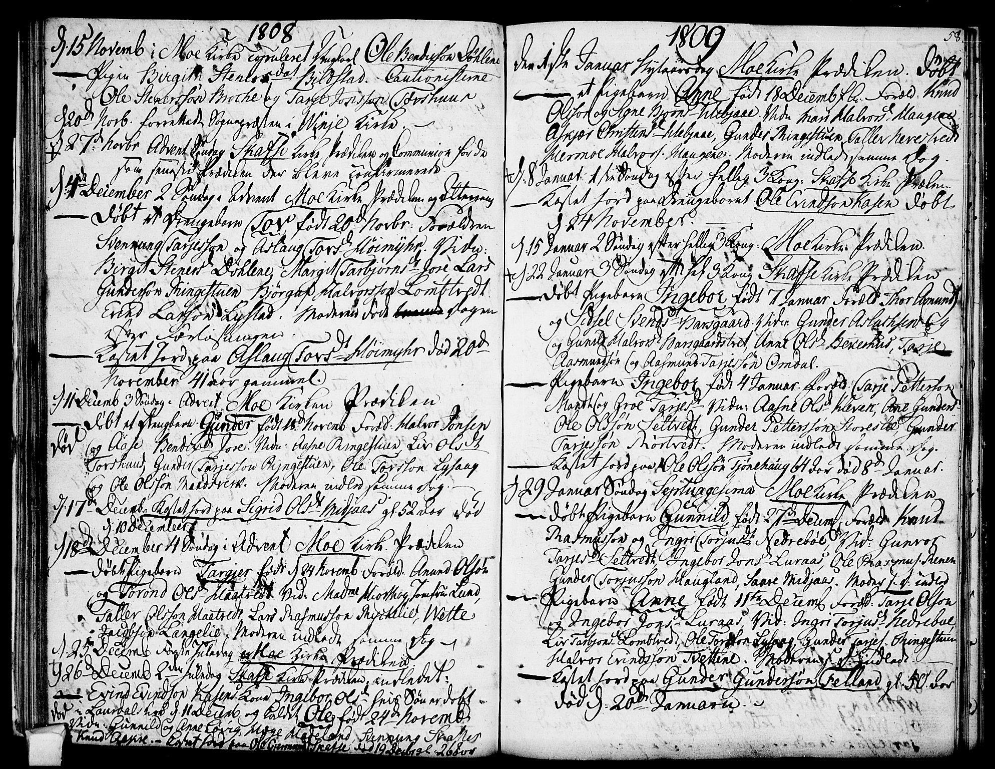 SAKO, Mo kirkebøker, F/Fa/L0003: Ministerialbok nr. I 3, 1800-1814, s. 58
