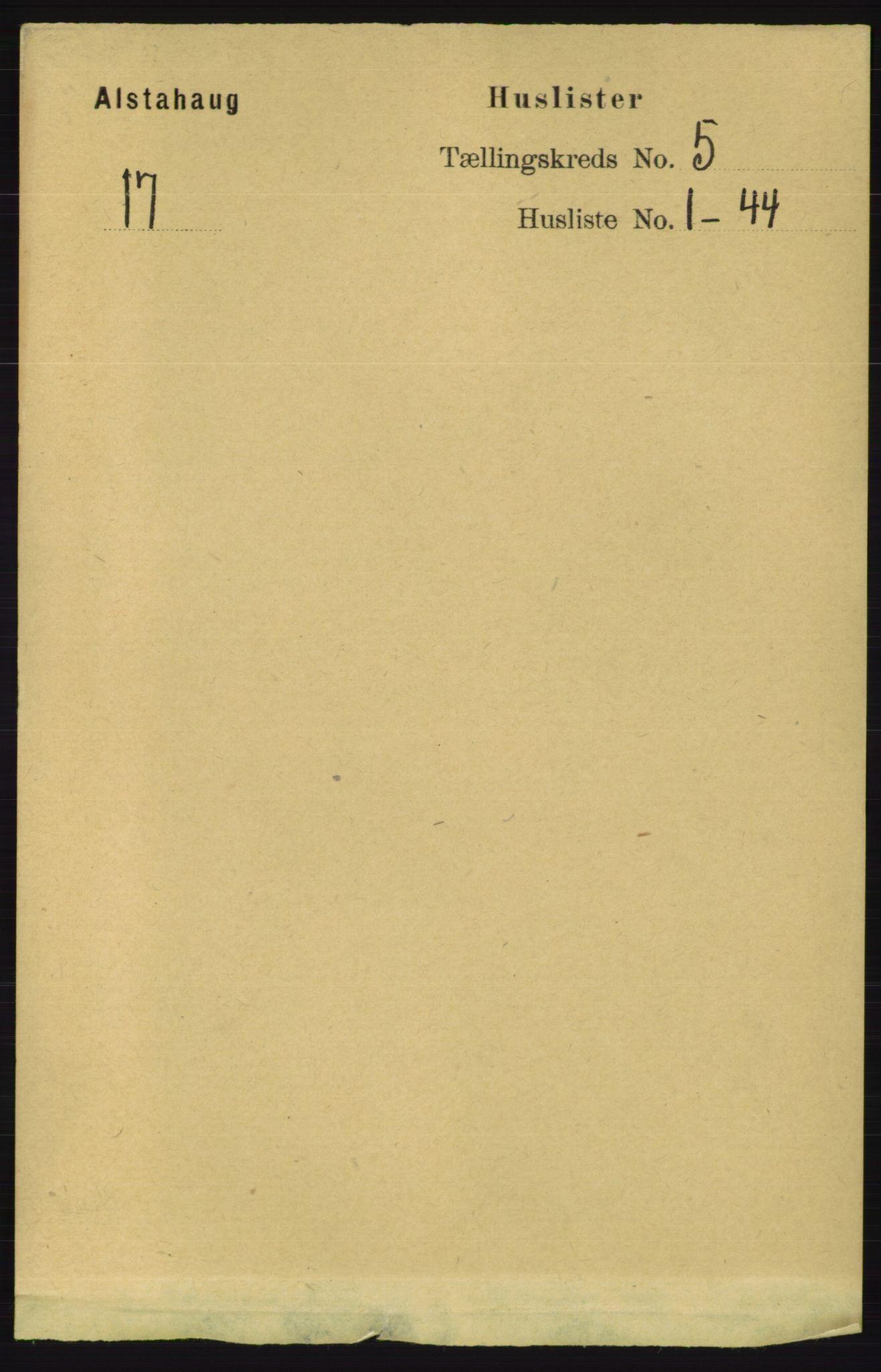 RA, Folketelling 1891 for 1820 Alstahaug herred, 1891, s. 1736