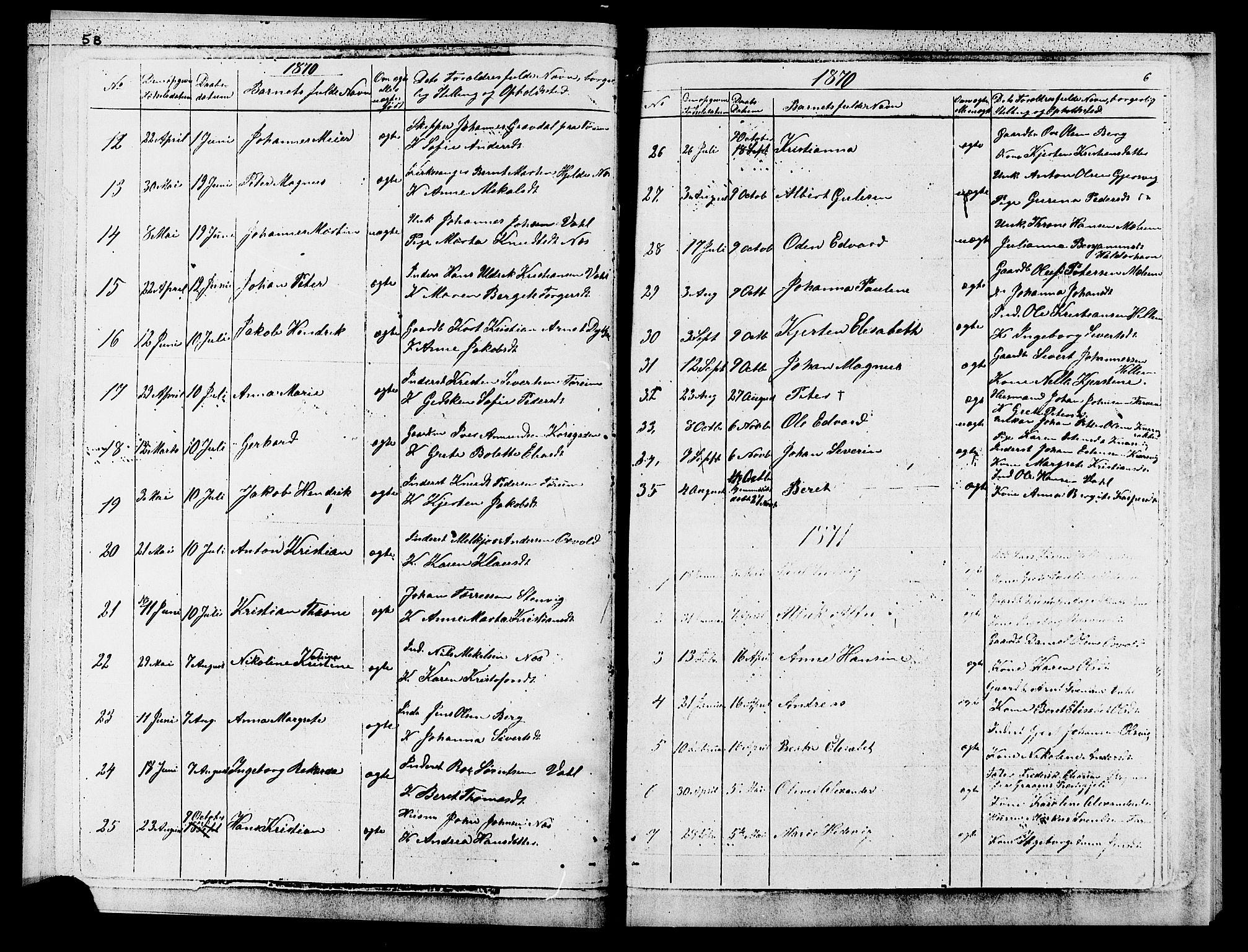 SAT, Ministerialprotokoller, klokkerbøker og fødselsregistre - Sør-Trøndelag, 652/L0653: Klokkerbok nr. 652C01, 1866-1910, s. 6