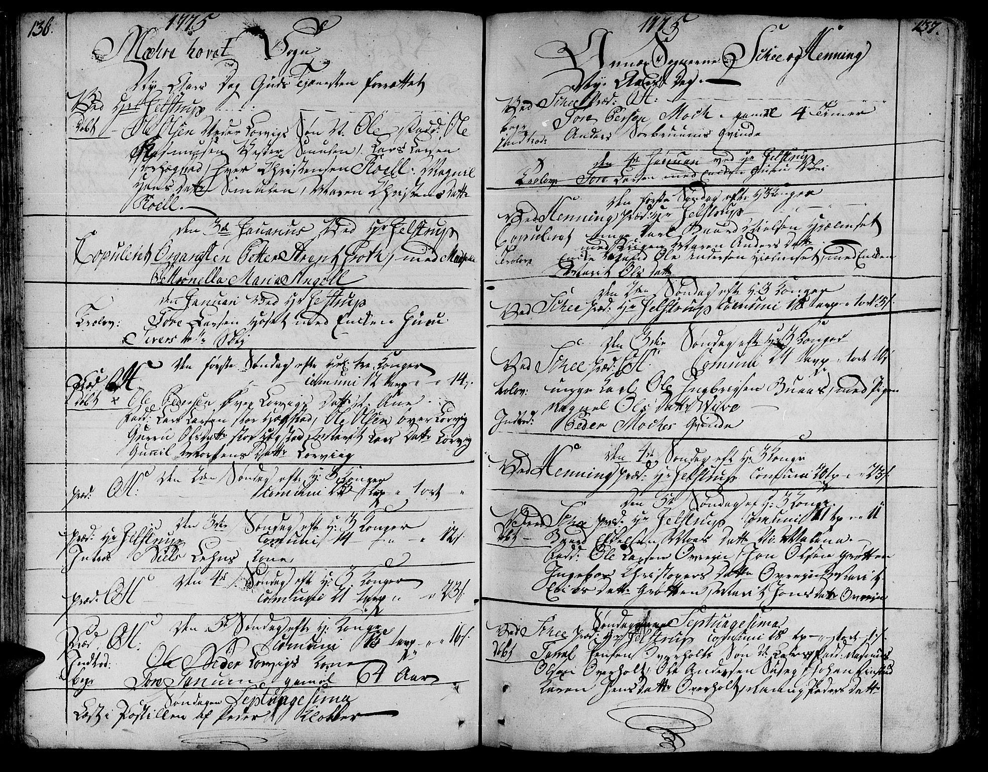 SAT, Ministerialprotokoller, klokkerbøker og fødselsregistre - Nord-Trøndelag, 735/L0331: Ministerialbok nr. 735A02, 1762-1794, s. 136-137
