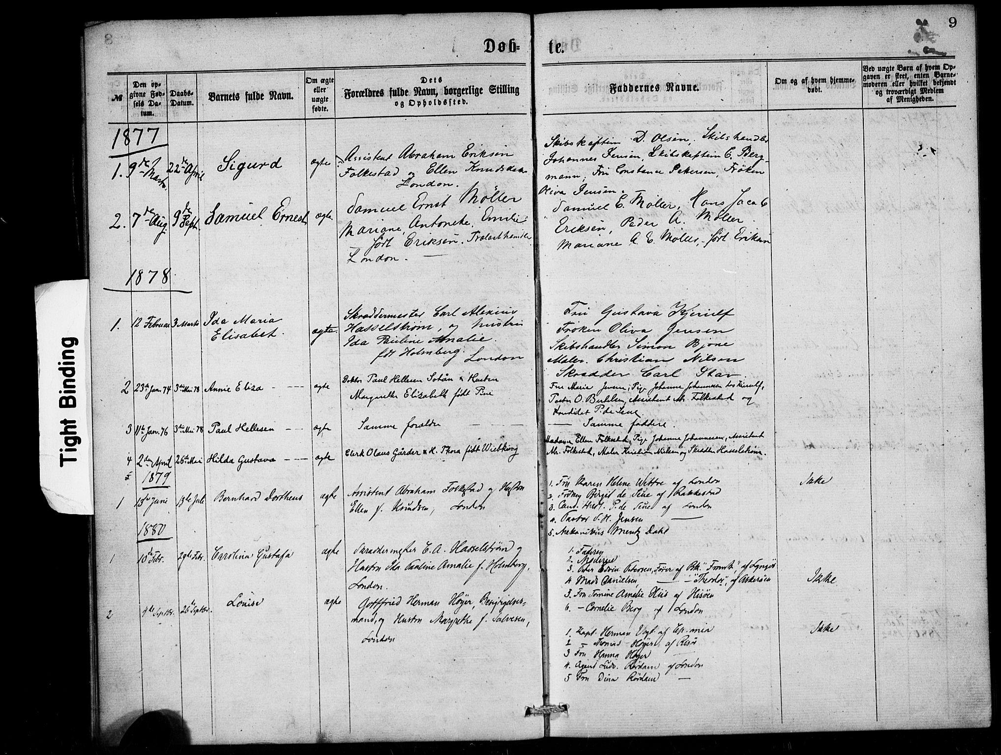 SAB, Den Norske Sjømannsmisjon i utlandet*, Ministerialbok nr. A 1, 1868-1887, s. 9
