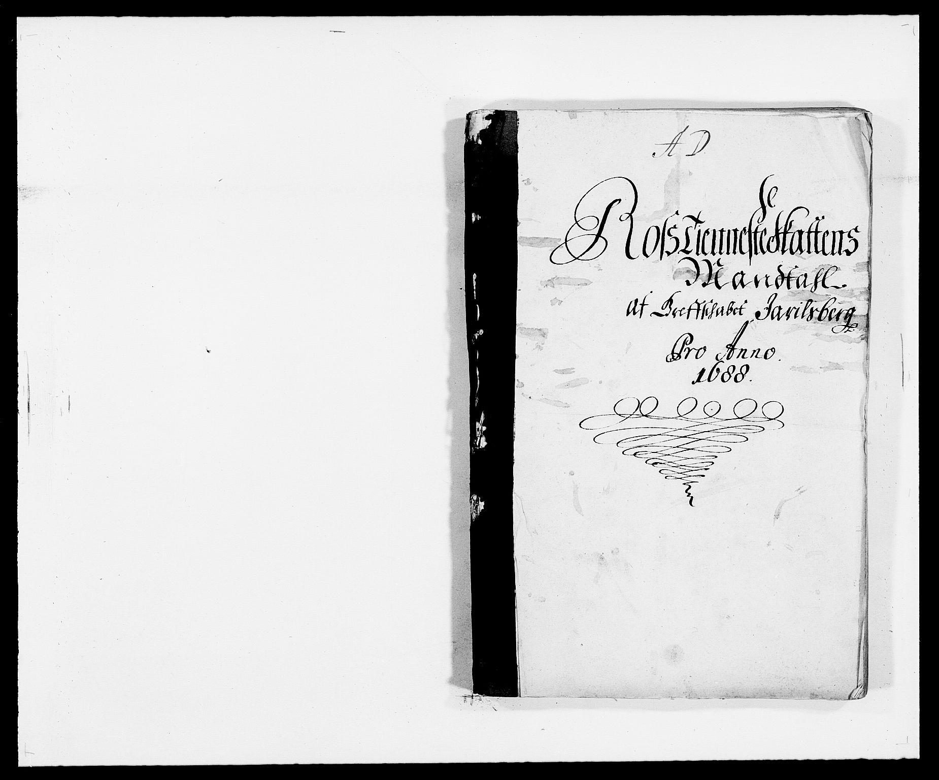 RA, Rentekammeret inntil 1814, Reviderte regnskaper, Fogderegnskap, R32/L1859: Fogderegnskap Jarlsberg grevskap, 1686-1690, s. 250