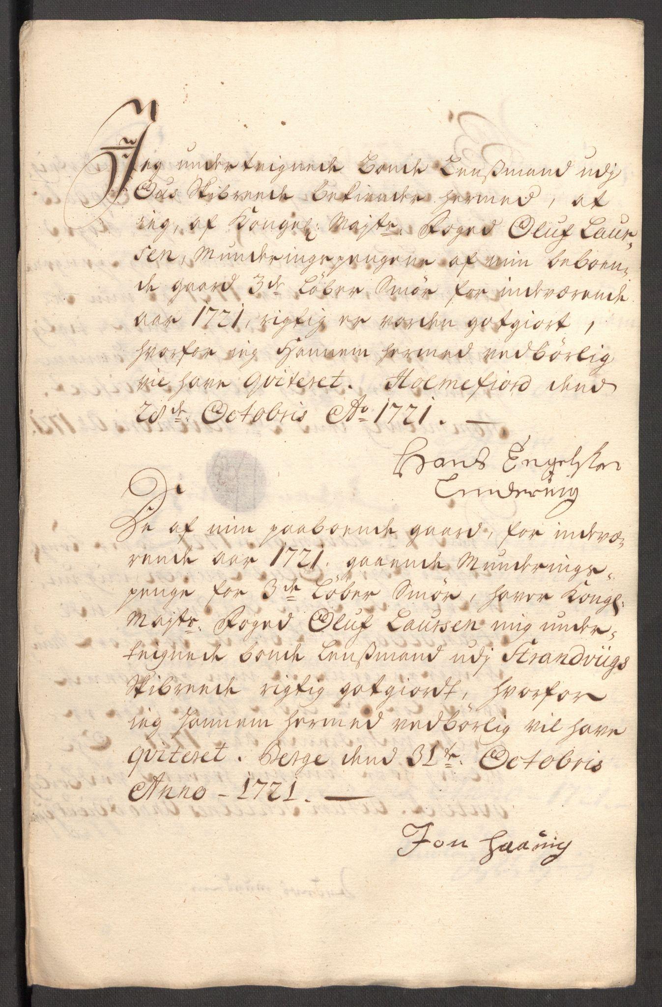 RA, Rentekammeret inntil 1814, Reviderte regnskaper, Fogderegnskap, R48/L3000: Fogderegnskap Sunnhordland og Hardanger, 1721, s. 274