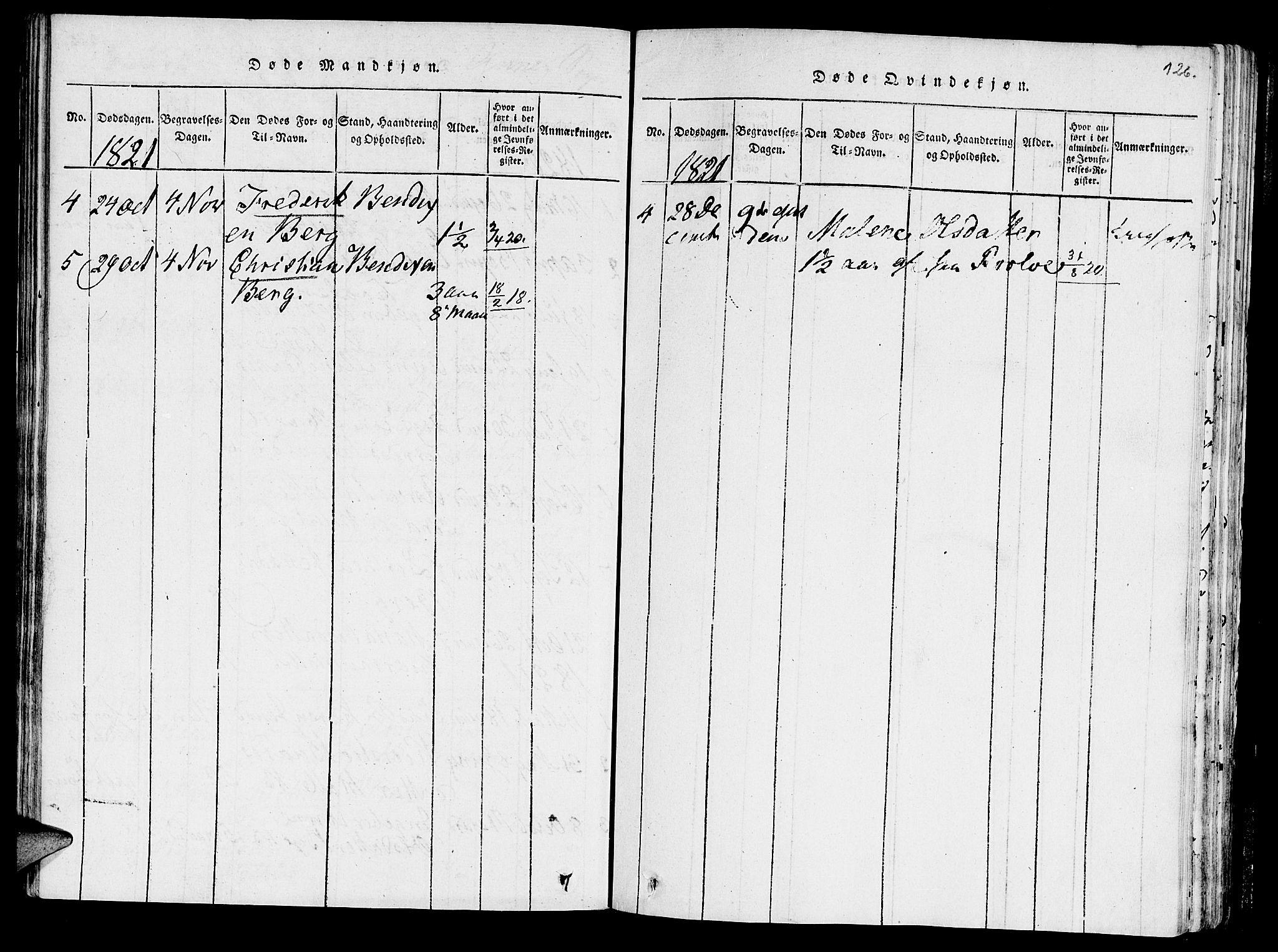 SAT, Ministerialprotokoller, klokkerbøker og fødselsregistre - Nord-Trøndelag, 723/L0234: Ministerialbok nr. 723A05 /3, 1817-1821, s. 126