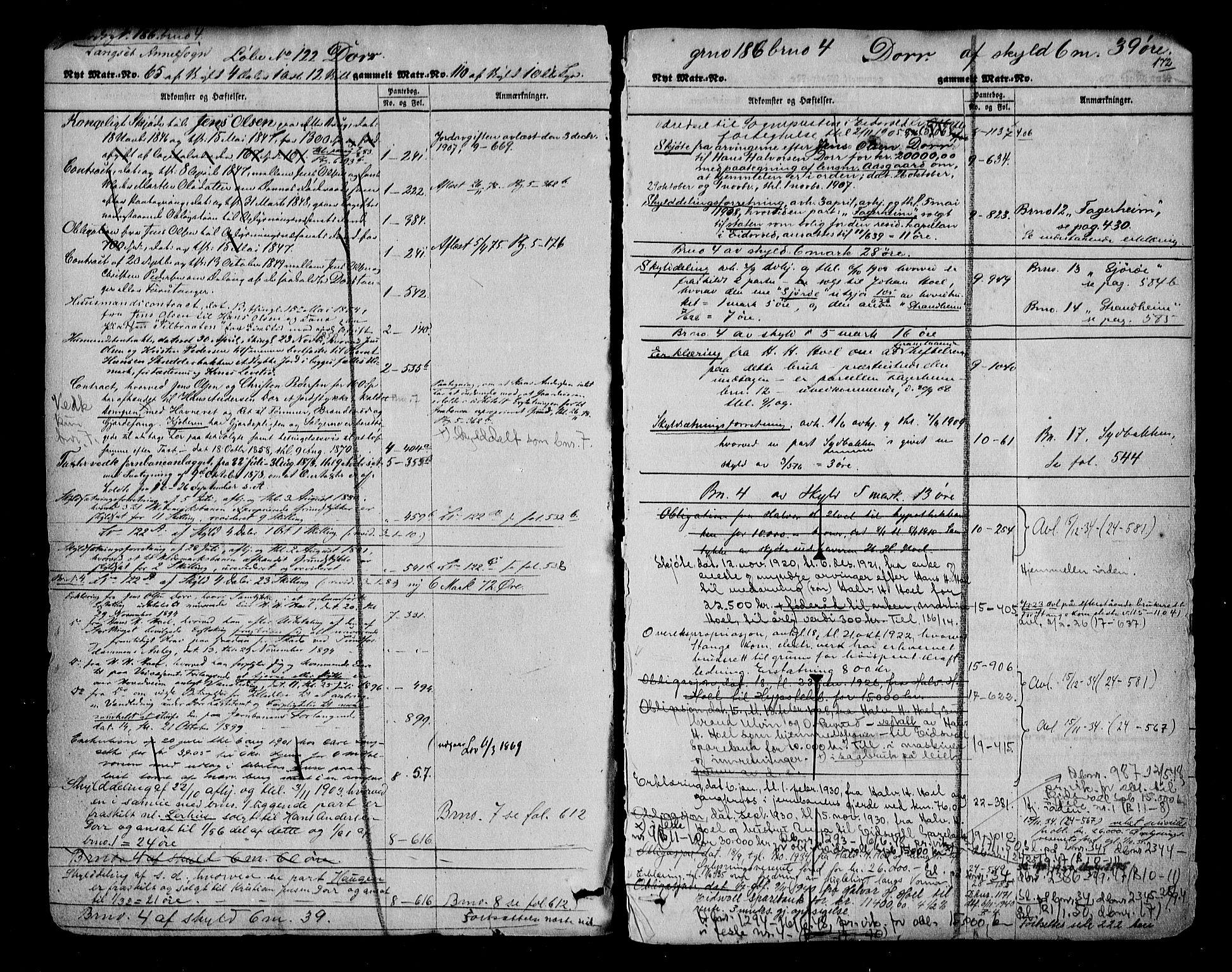 SAO, Eidsvoll tingrett, G/Ga/Gac/L0001: Panteregister nr. III I, s. 172