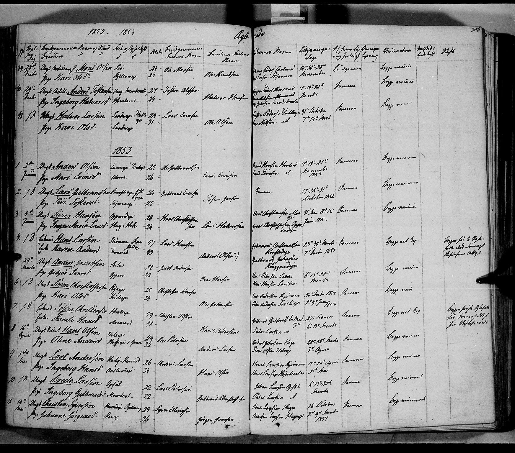 SAH, Jevnaker prestekontor, Ministerialbok nr. 6, 1837-1857, s. 206