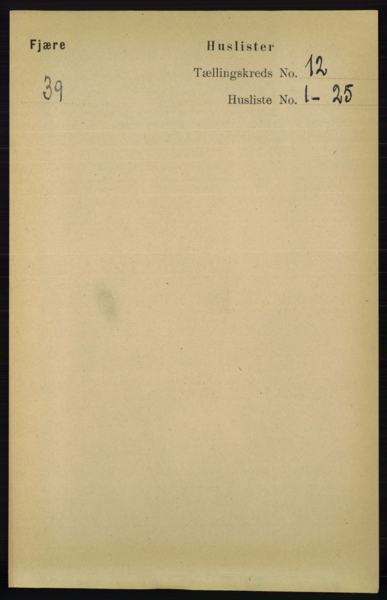 RA, Folketelling 1891 for 0923 Fjære herred, 1891, s. 5939