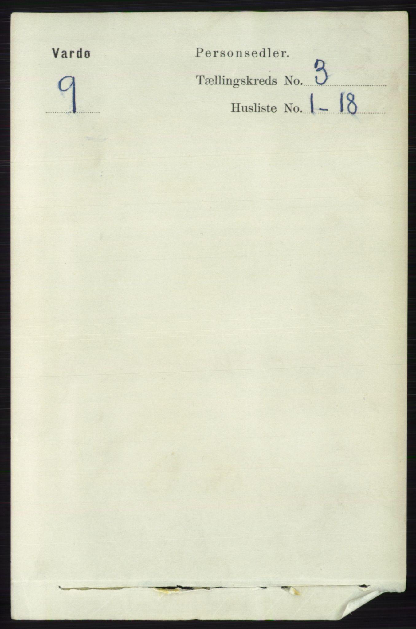 RA, Folketelling 1891 for 2002 Vardø kjøpstad, 1891, s. 1541