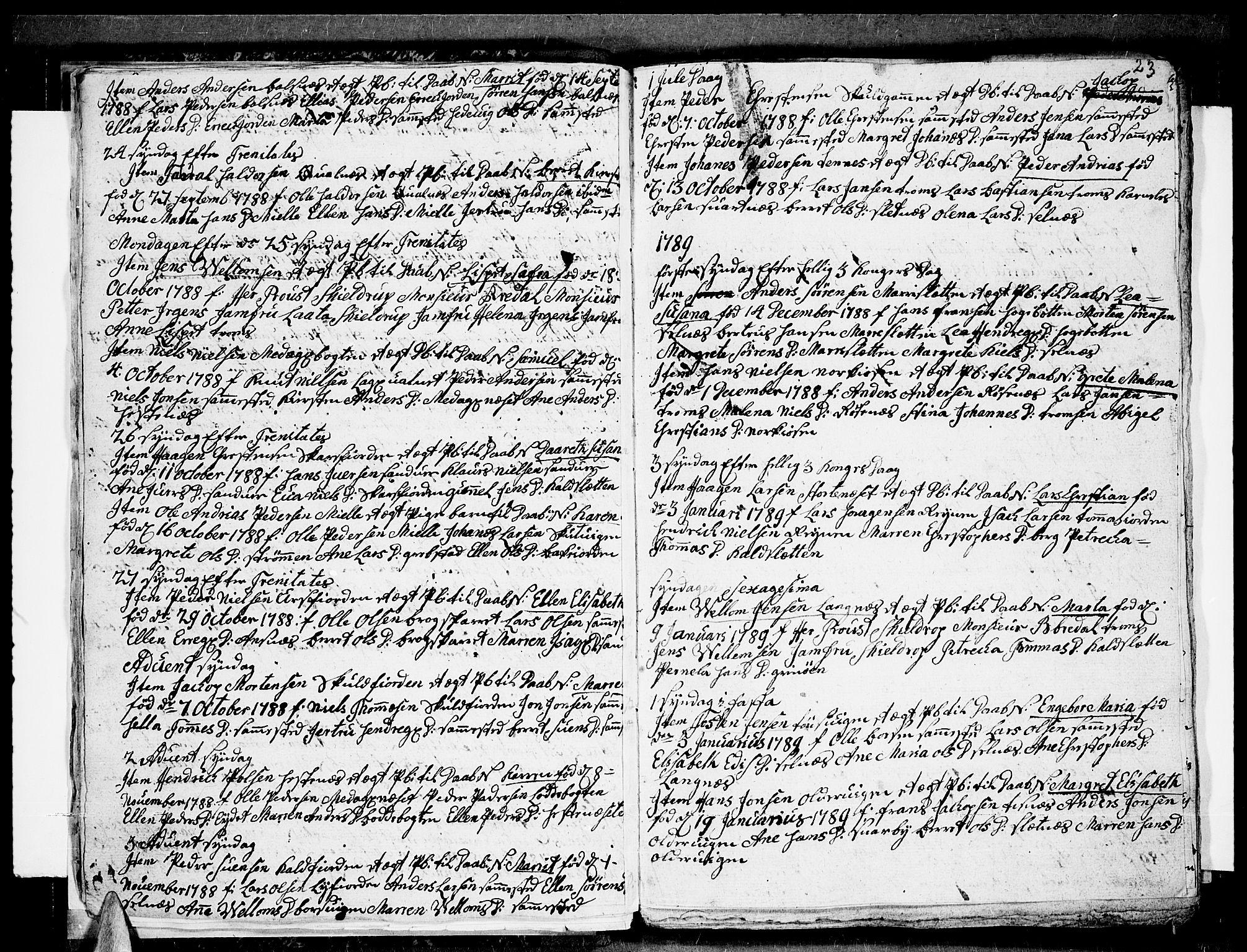 SATØ, Tromsø sokneprestkontor/stiftsprosti/domprosti, G/Ga/L0004kirke: Ministerialbok nr. 4, 1787-1795, s. 23